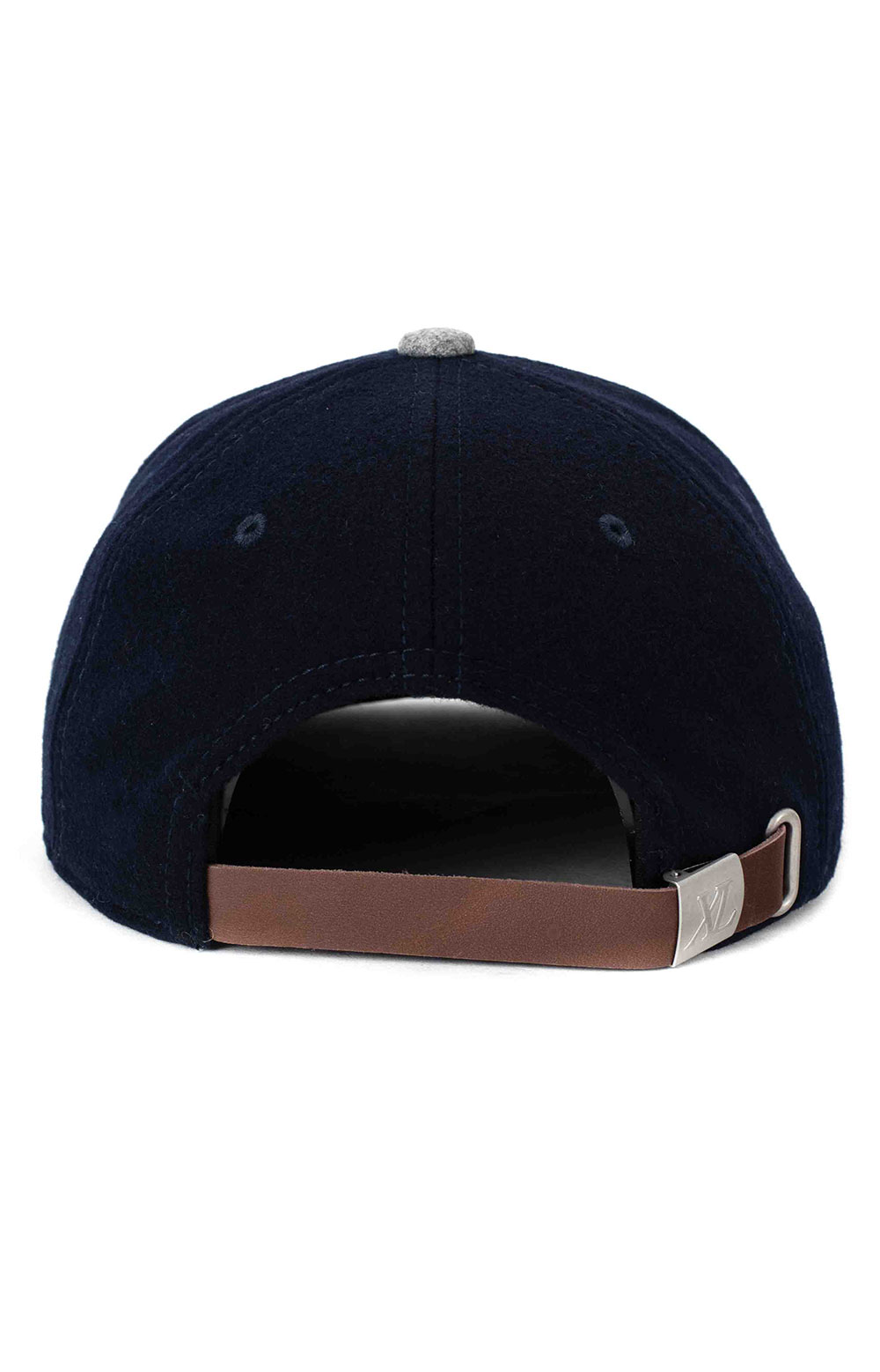 Patched Wool Cap - Navy 3