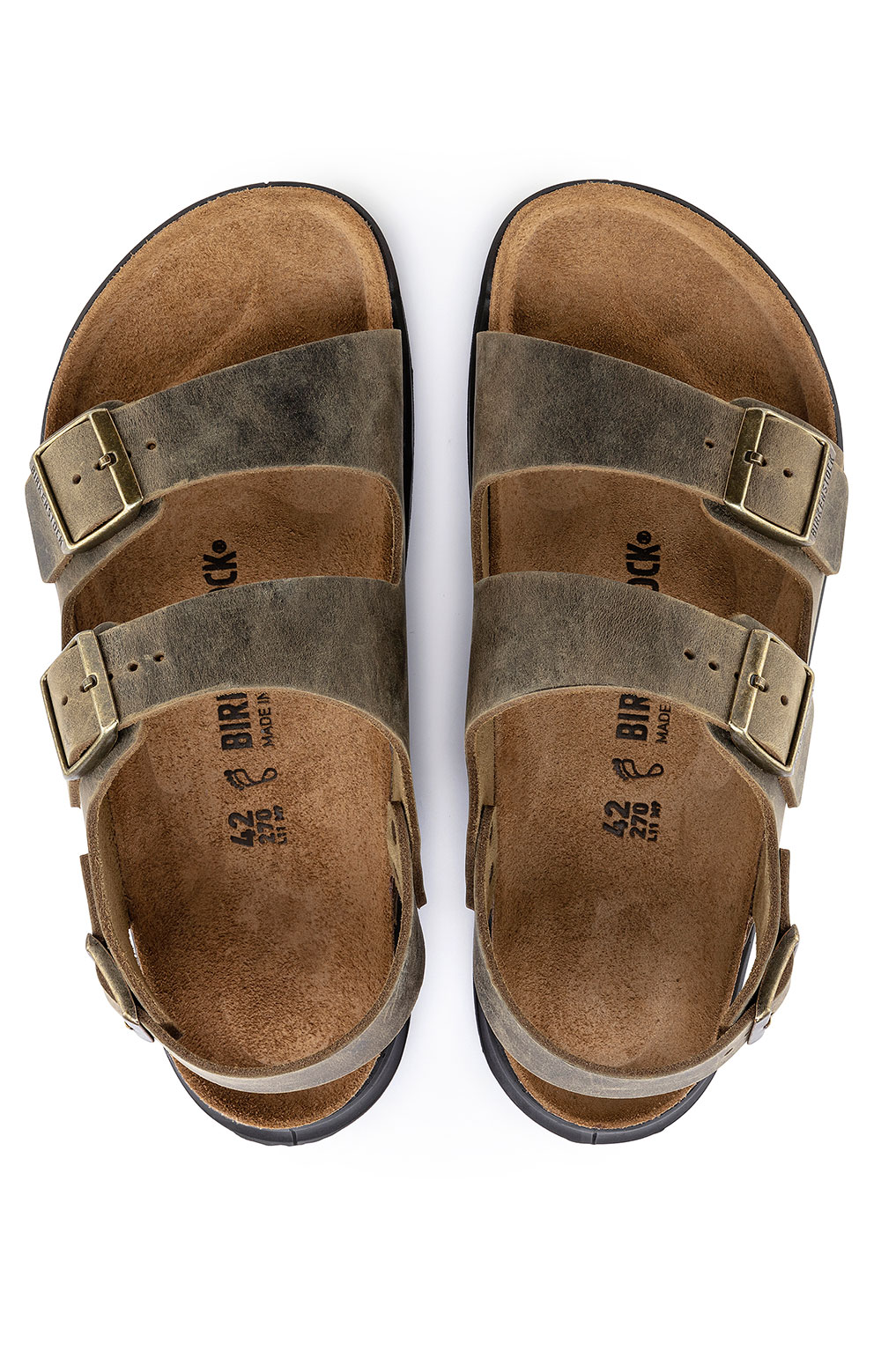 (1018427) Milano Cross Town Sandals - Faded Khaki 5