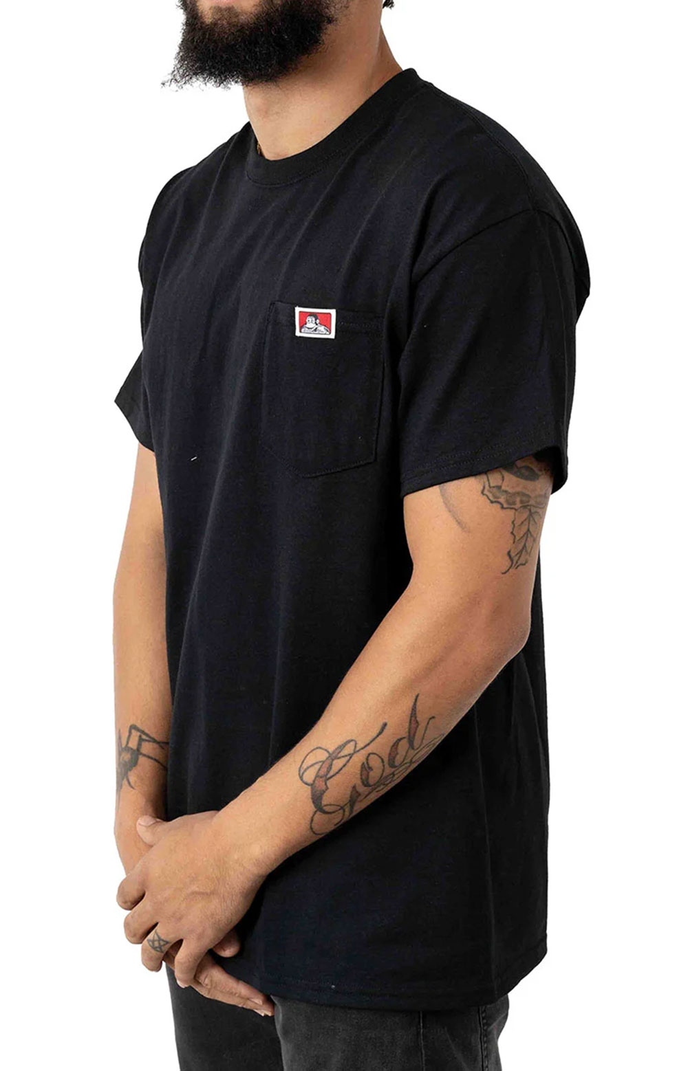 Classic Label Pocket T-Shirt - Black 2