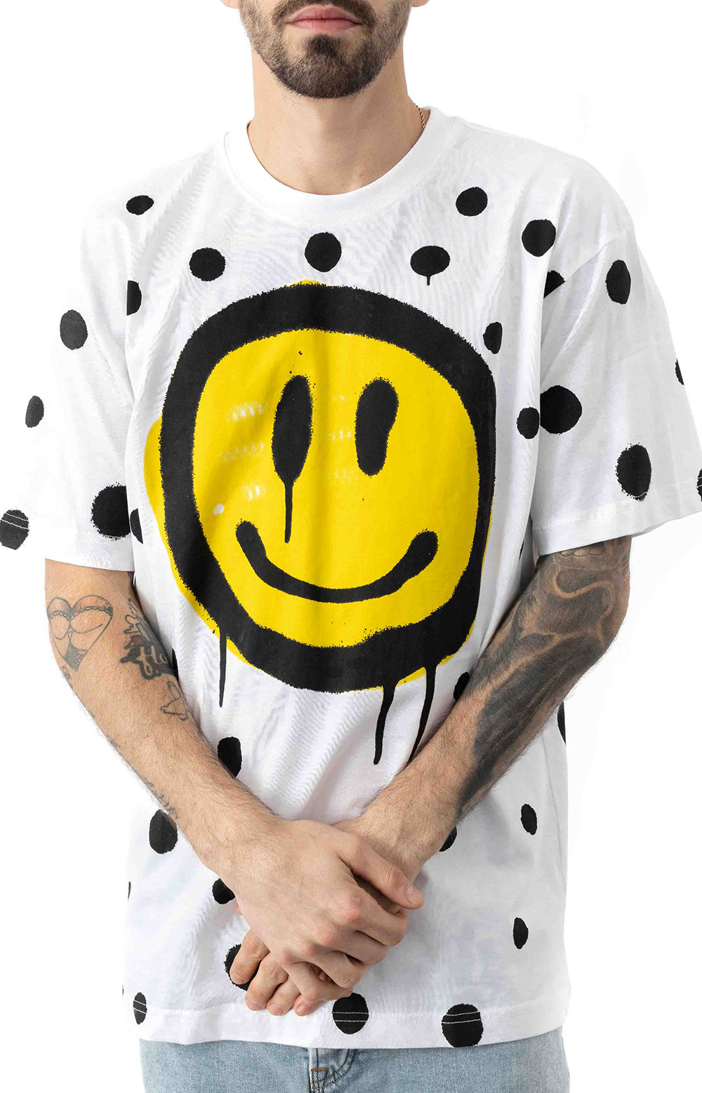 Smiley Vandal T-Shirt - White