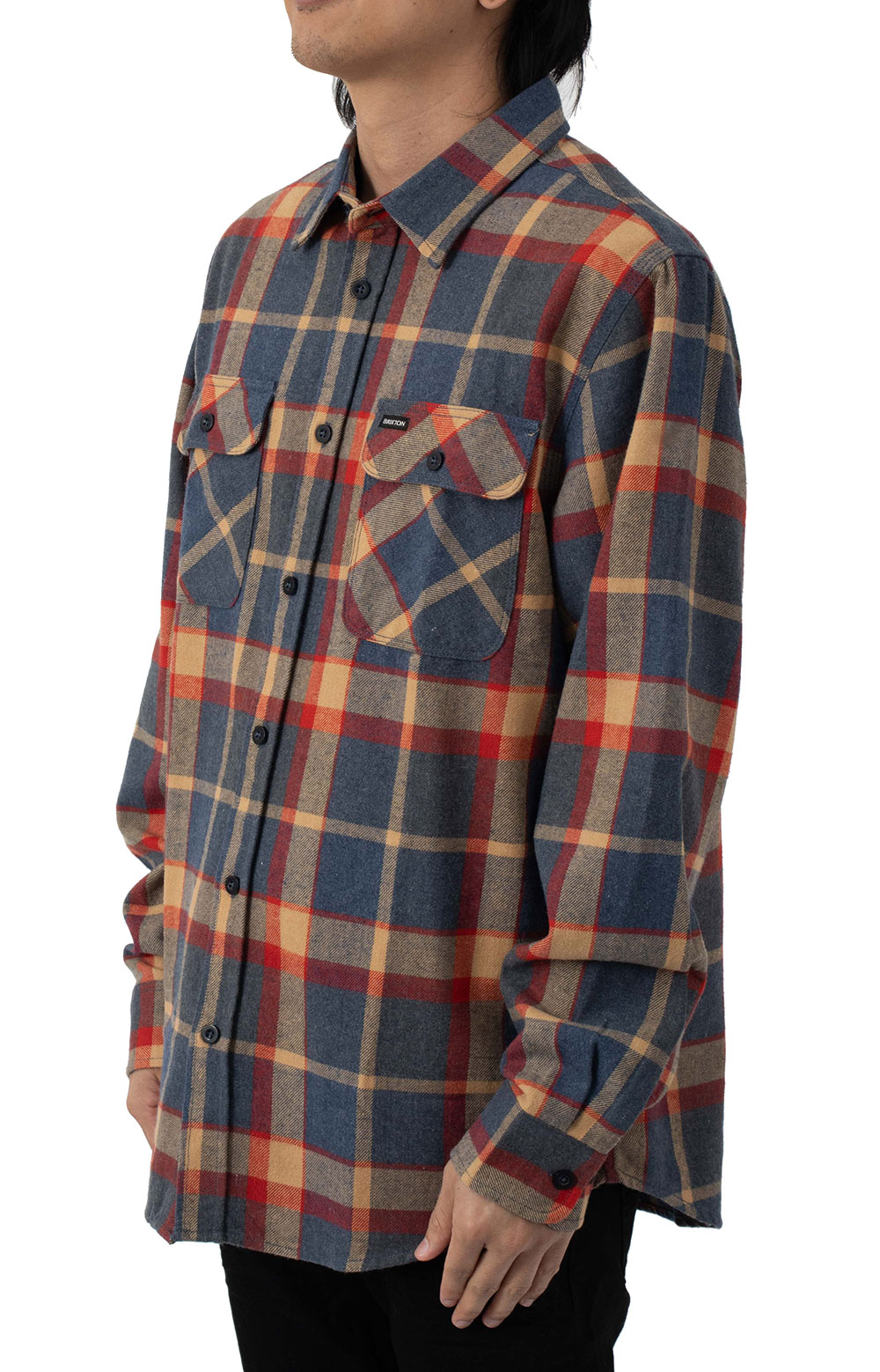 Bowery L/S Flannel - Blue/Red 2