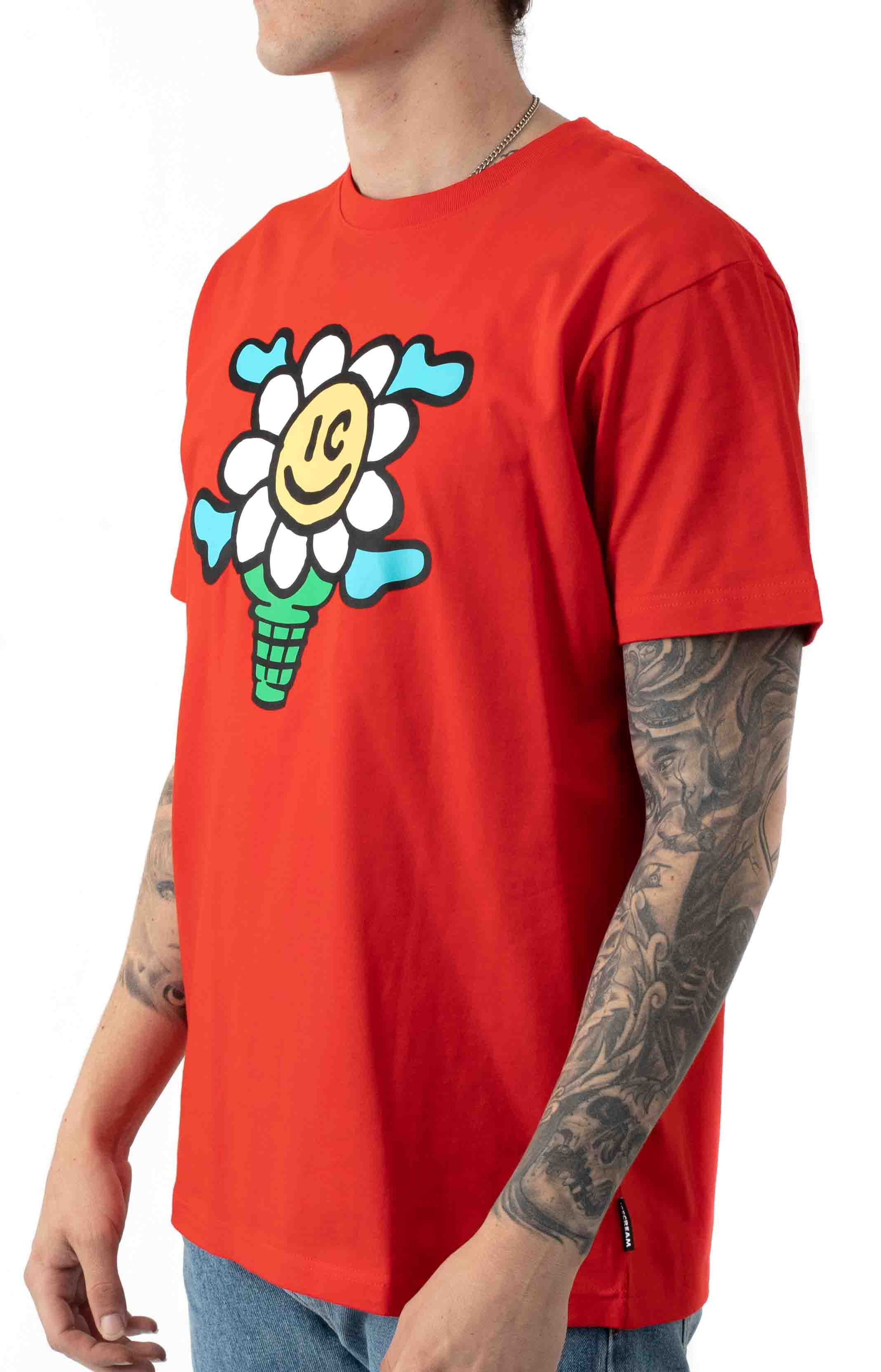 Dotty T-Shirt - Fiery Red  2