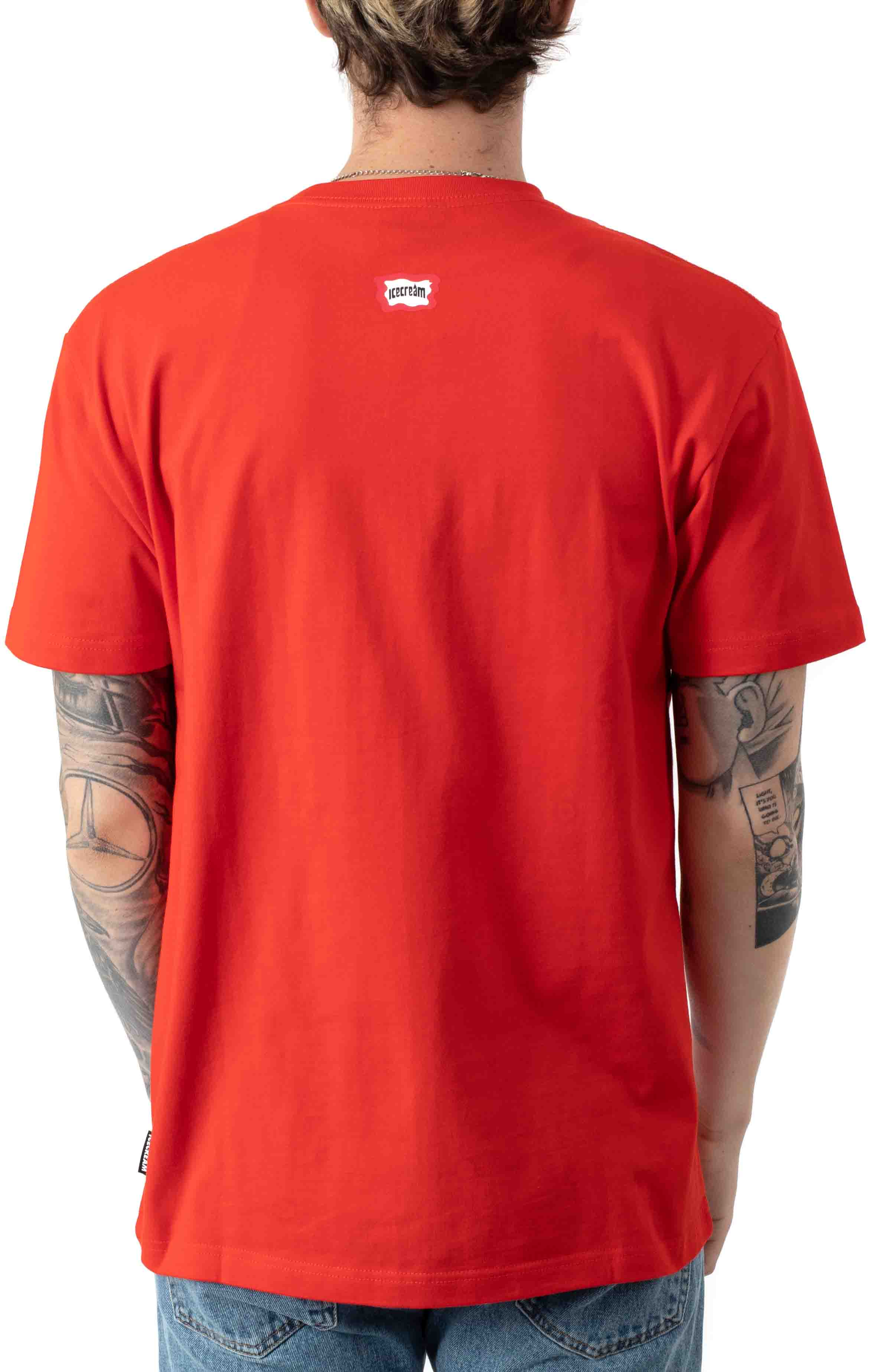 Dotty T-Shirt - Fiery Red  3
