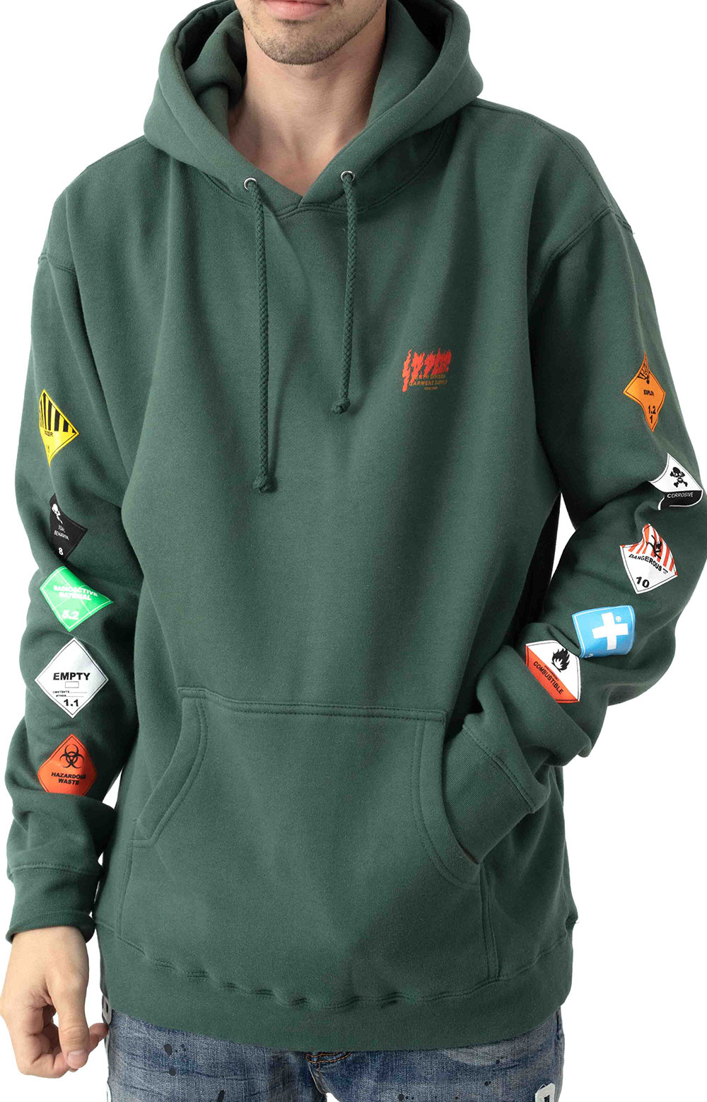 Prohibited Pullover Hoodie - Green