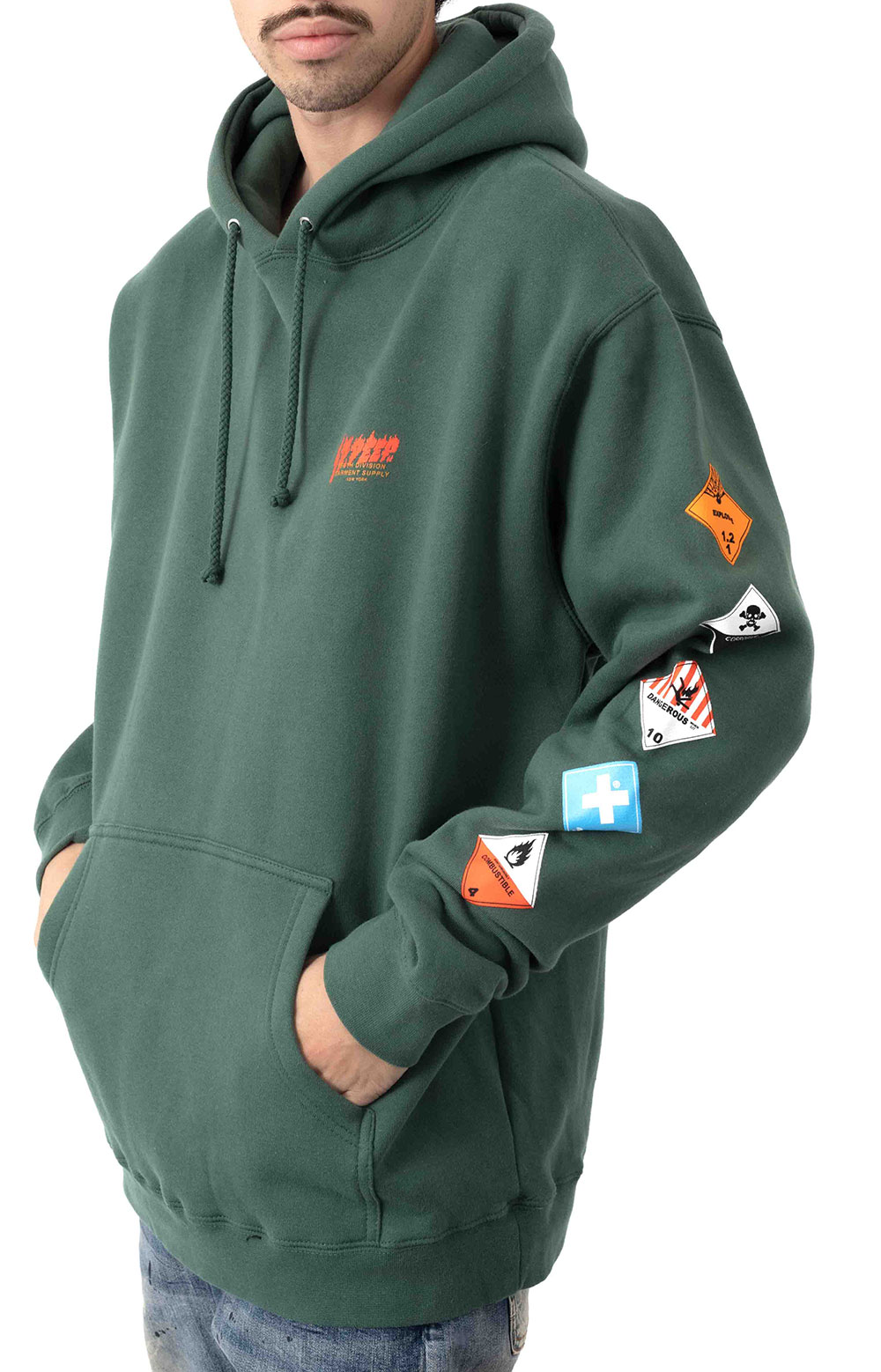 Prohibited Pullover Hoodie - Green  2