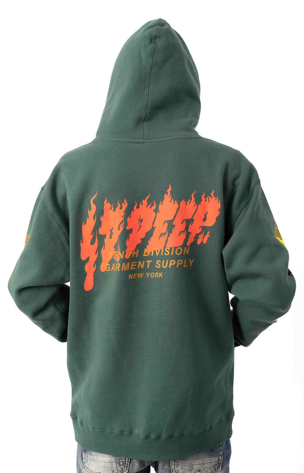 Prohibited Pullover Hoodie - Green  3