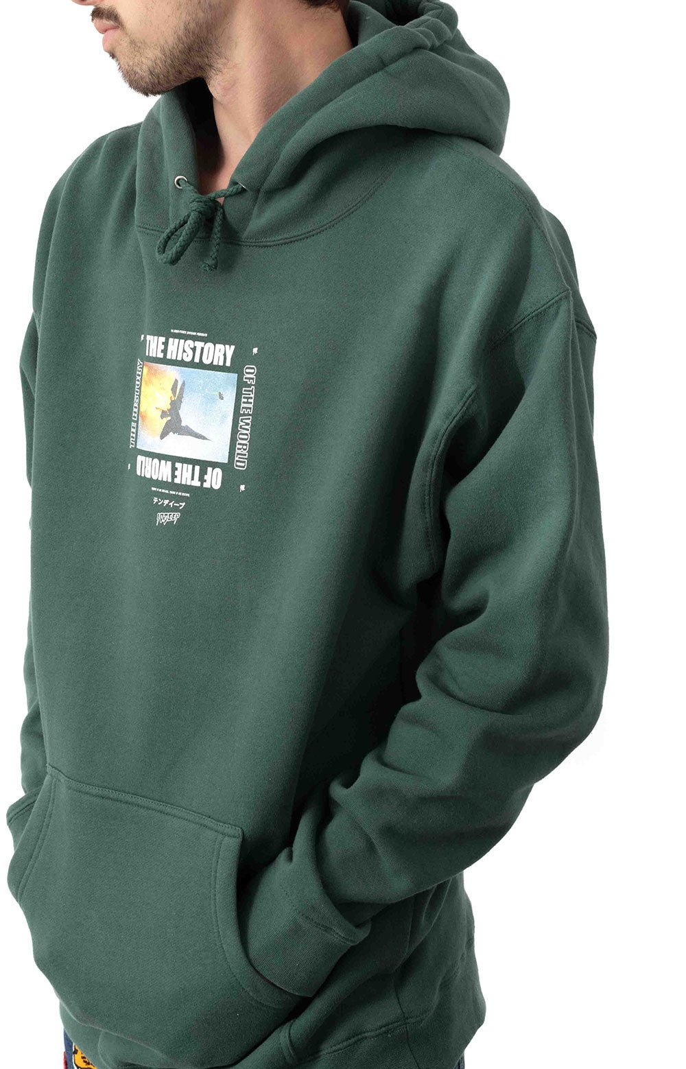 History Of The World Pullover Hoodie - Green 3