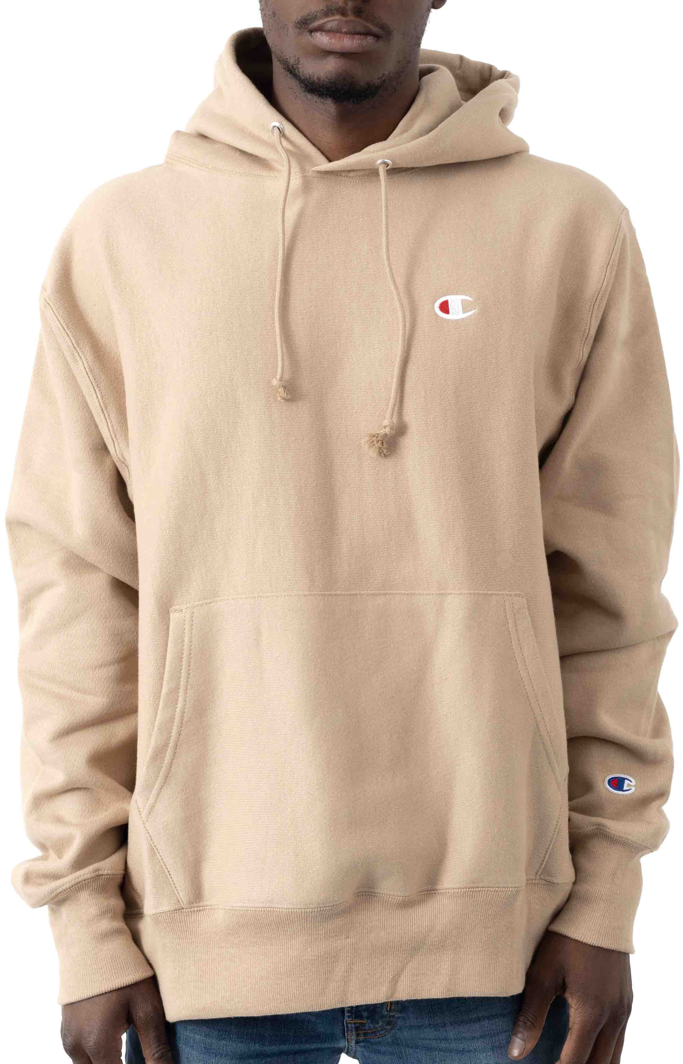 C Logo Reverse Weave Pullover Hoodie - Country Walnut