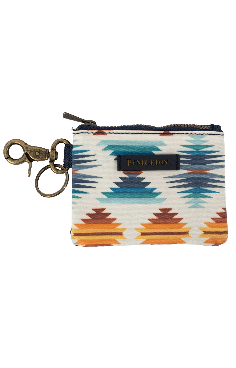 Canopy Canvas ID Pouch Key Ring - Flacon Cove Sunset