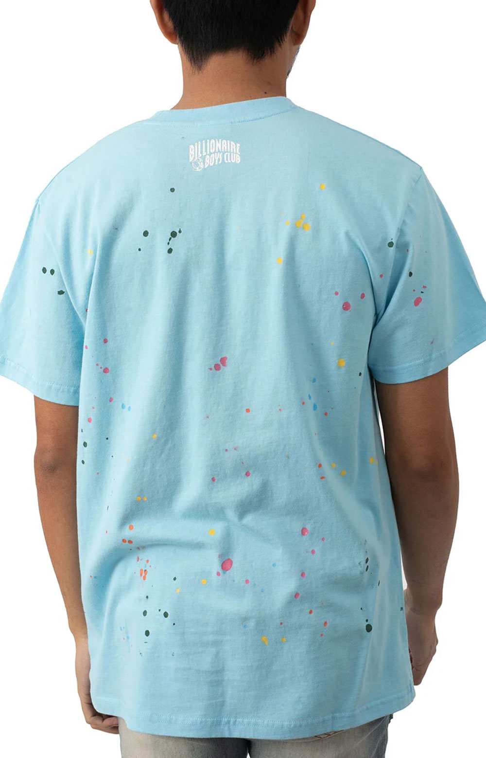BB Astro Spattered SS Knit T-Shirt - Sky Blue  3
