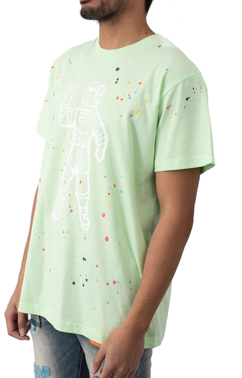 BB Astro Spattered SS Knit T-Shirt - Patina Green  2