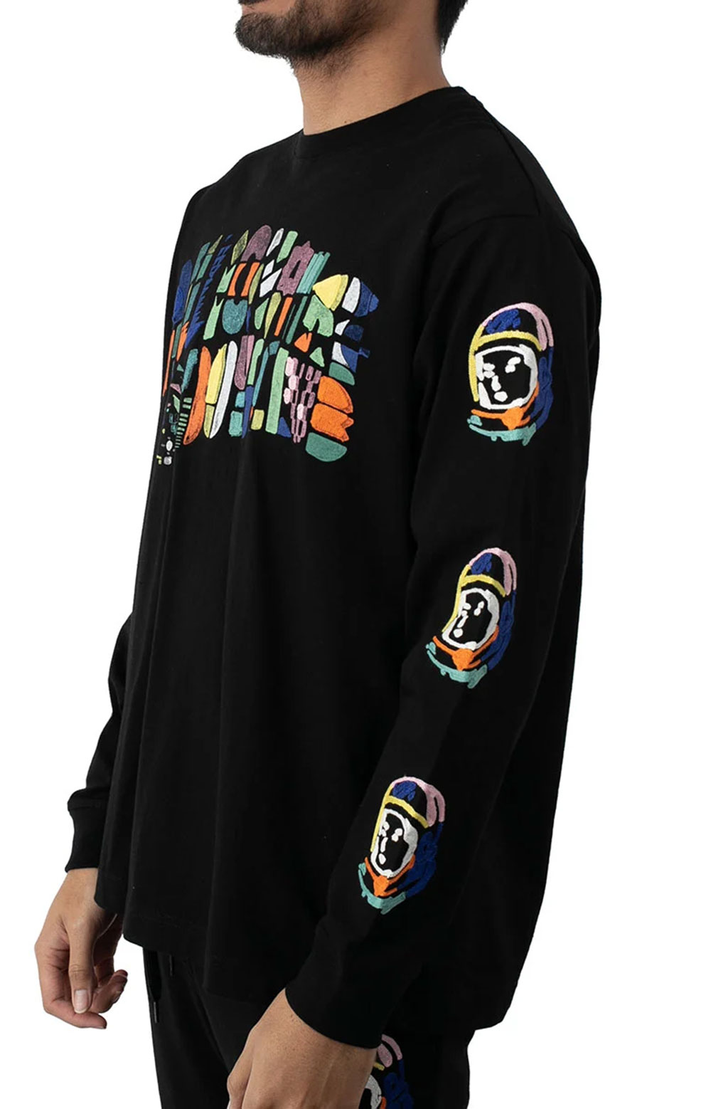 BB Abstract Arch L/S Knit - Black  2