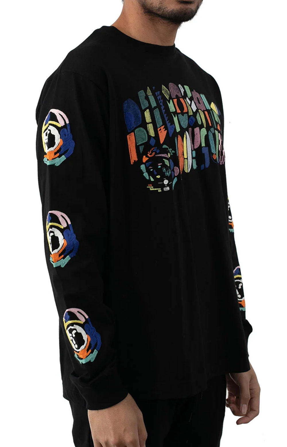 BB Abstract Arch L/S Knit - Black  3