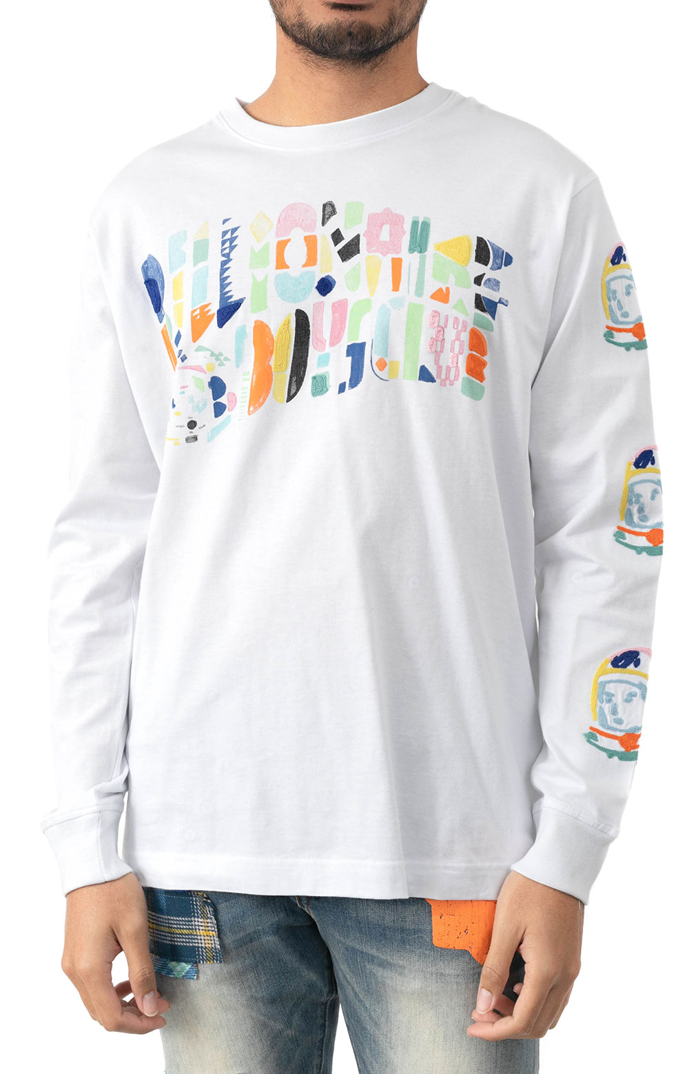BB Abstract Arch L/S Knit - White