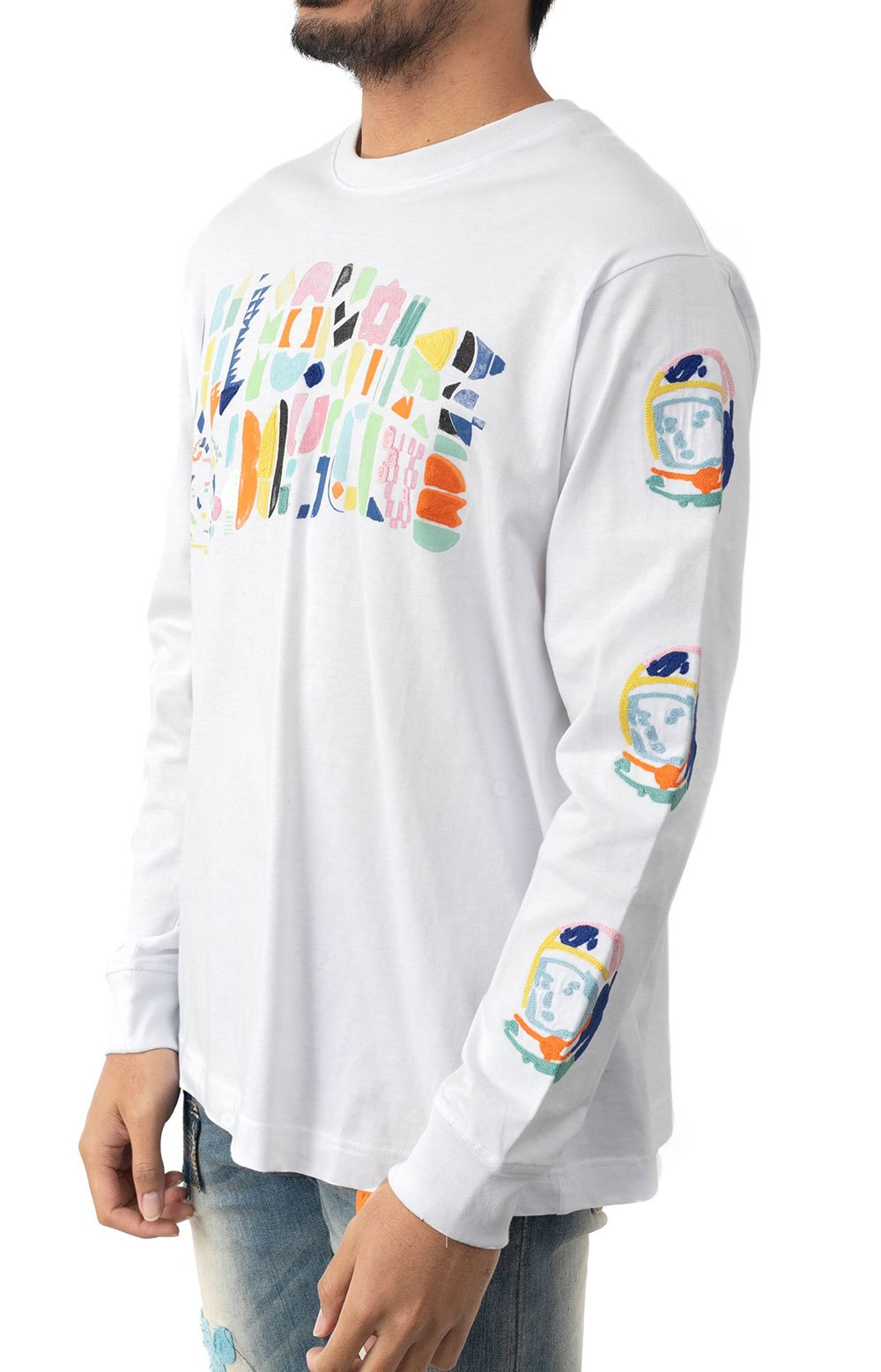 BB Abstract Arch L/S Knit - White  2