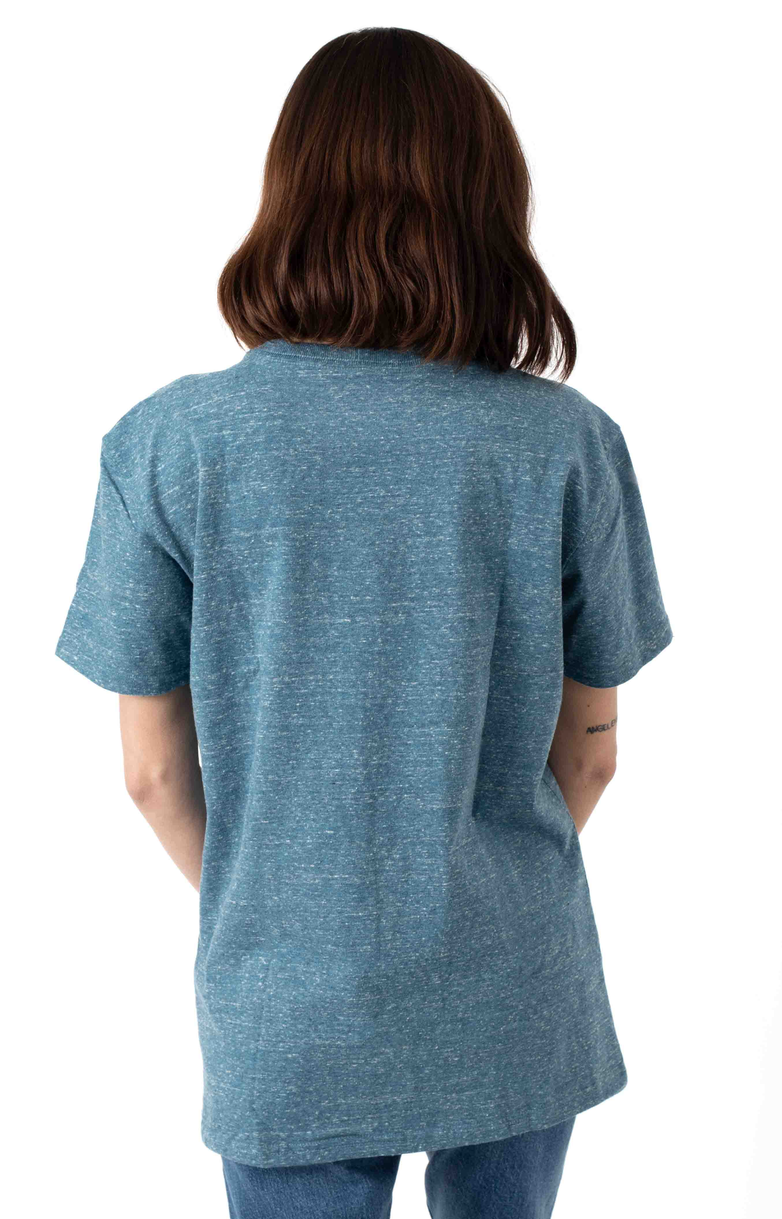 (103067) WK87 Workwear Pocket T-Shirt - Ocean Blue Snow Heather  3
