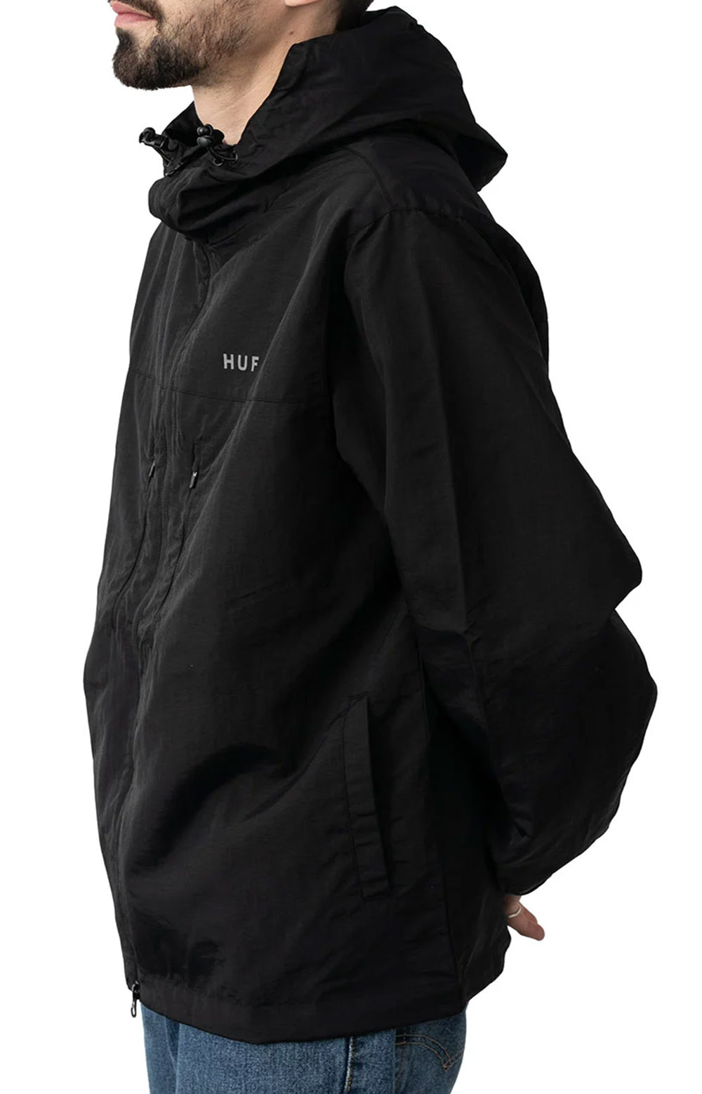 Essentials Zip Standard Shell Jacket - Black 2