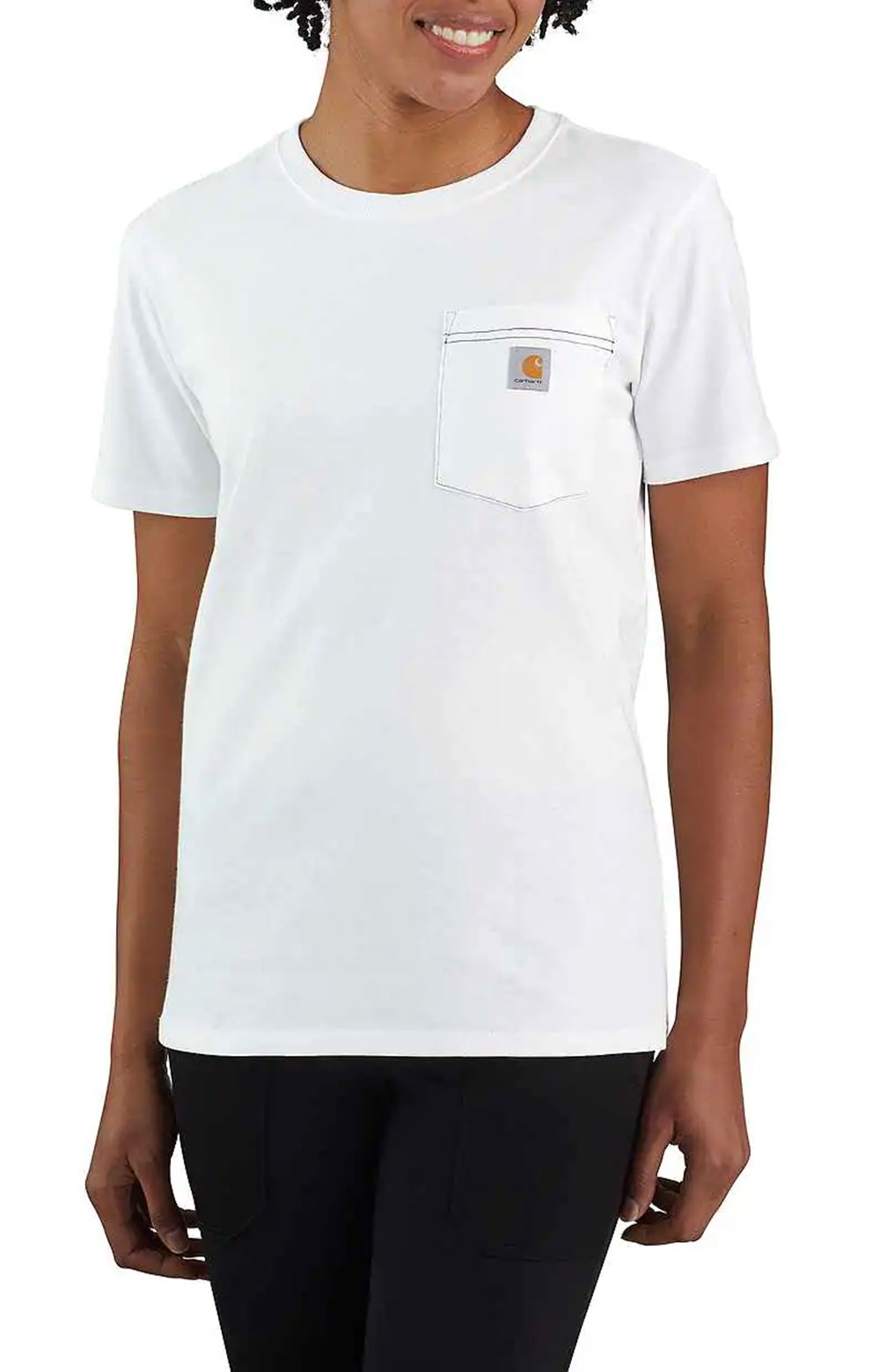 (104687) Loose Fit HW S/S Pocket Tried & True Graphic T-Shirt - White