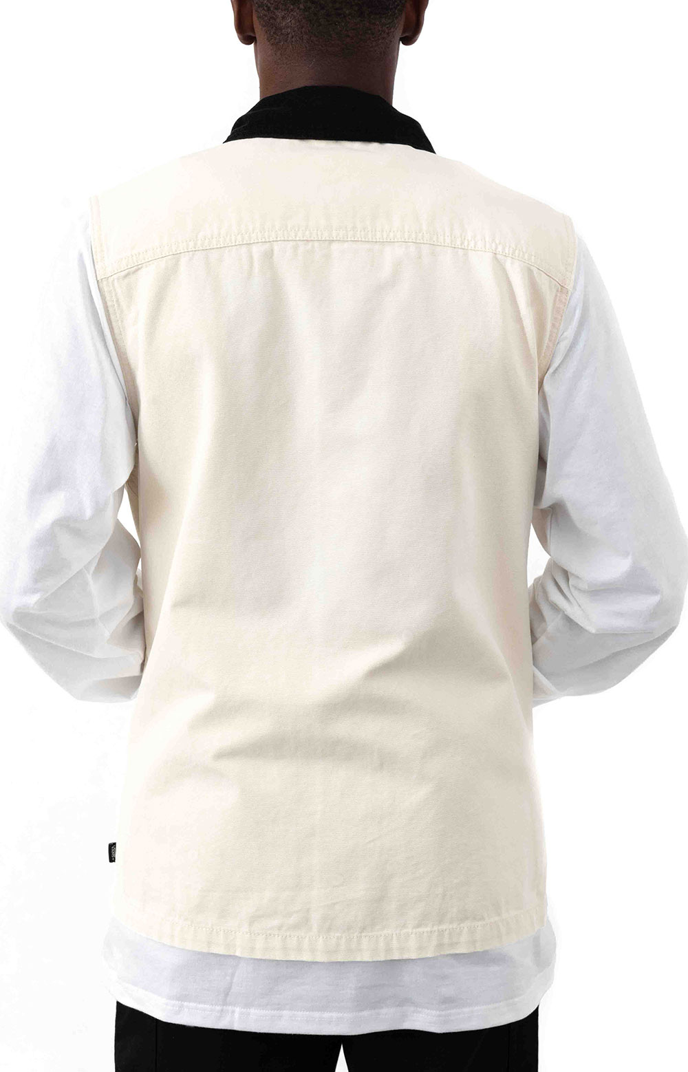 Drill Chore Canvas Vest - Seed Pearl  3