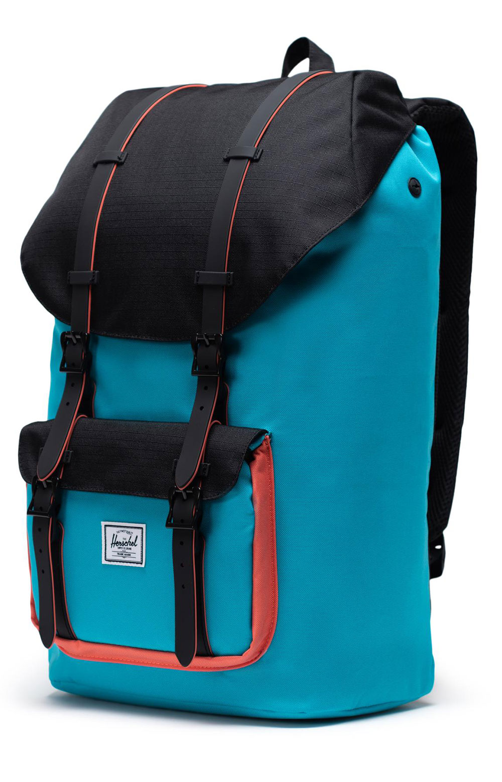 Little America Backpack - Blue Bird/Black/Emberglow 3