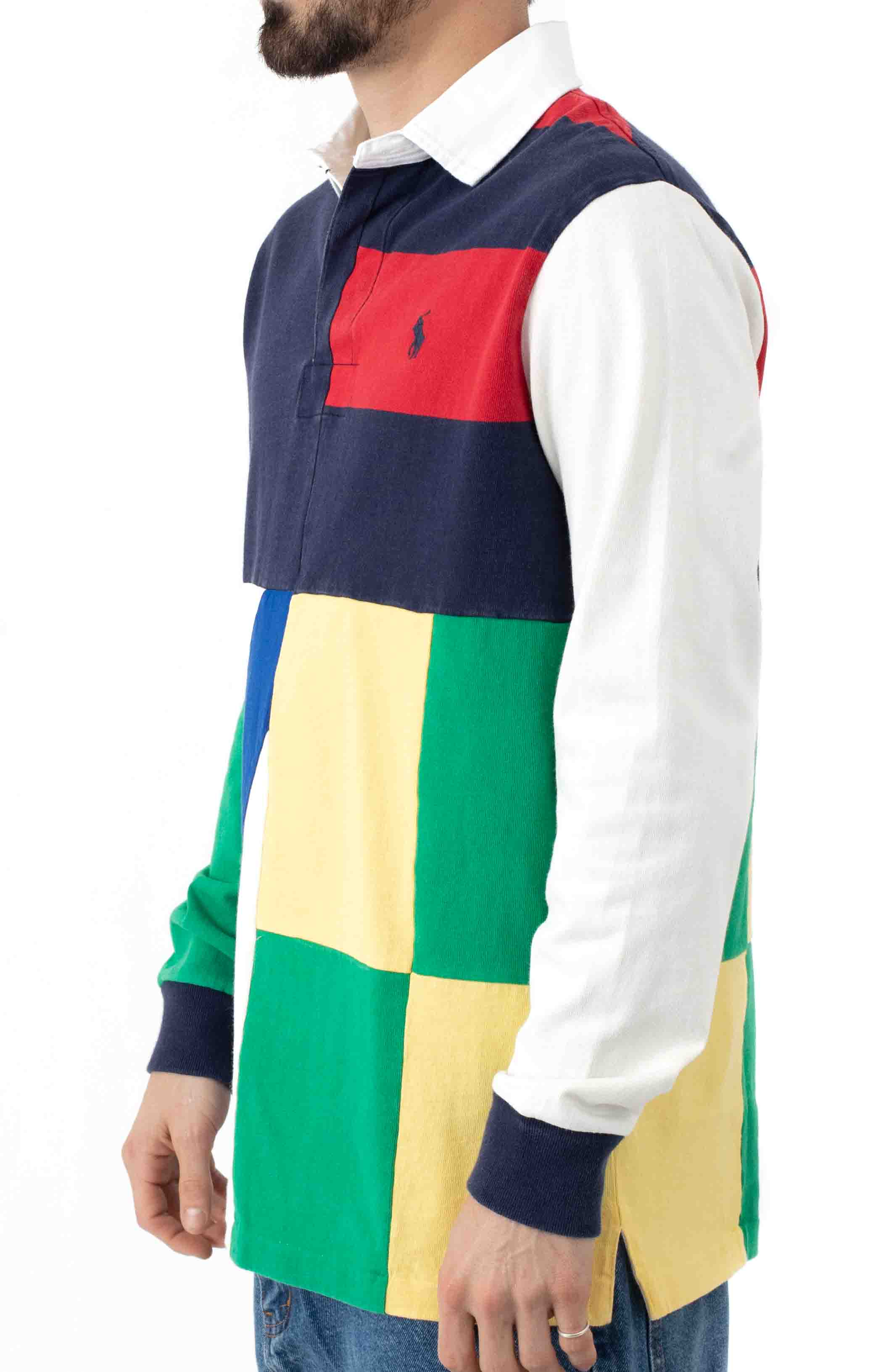 Classic Fit Patchwork Rugby Shirt  2