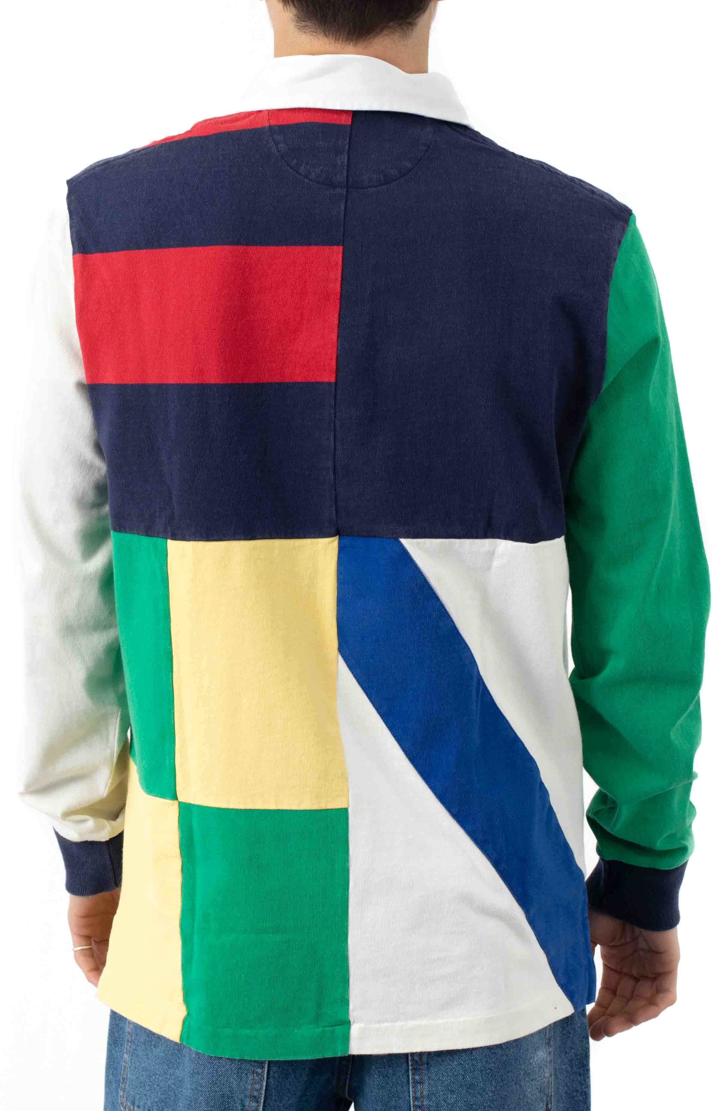 Classic Fit Patchwork Rugby Shirt  3