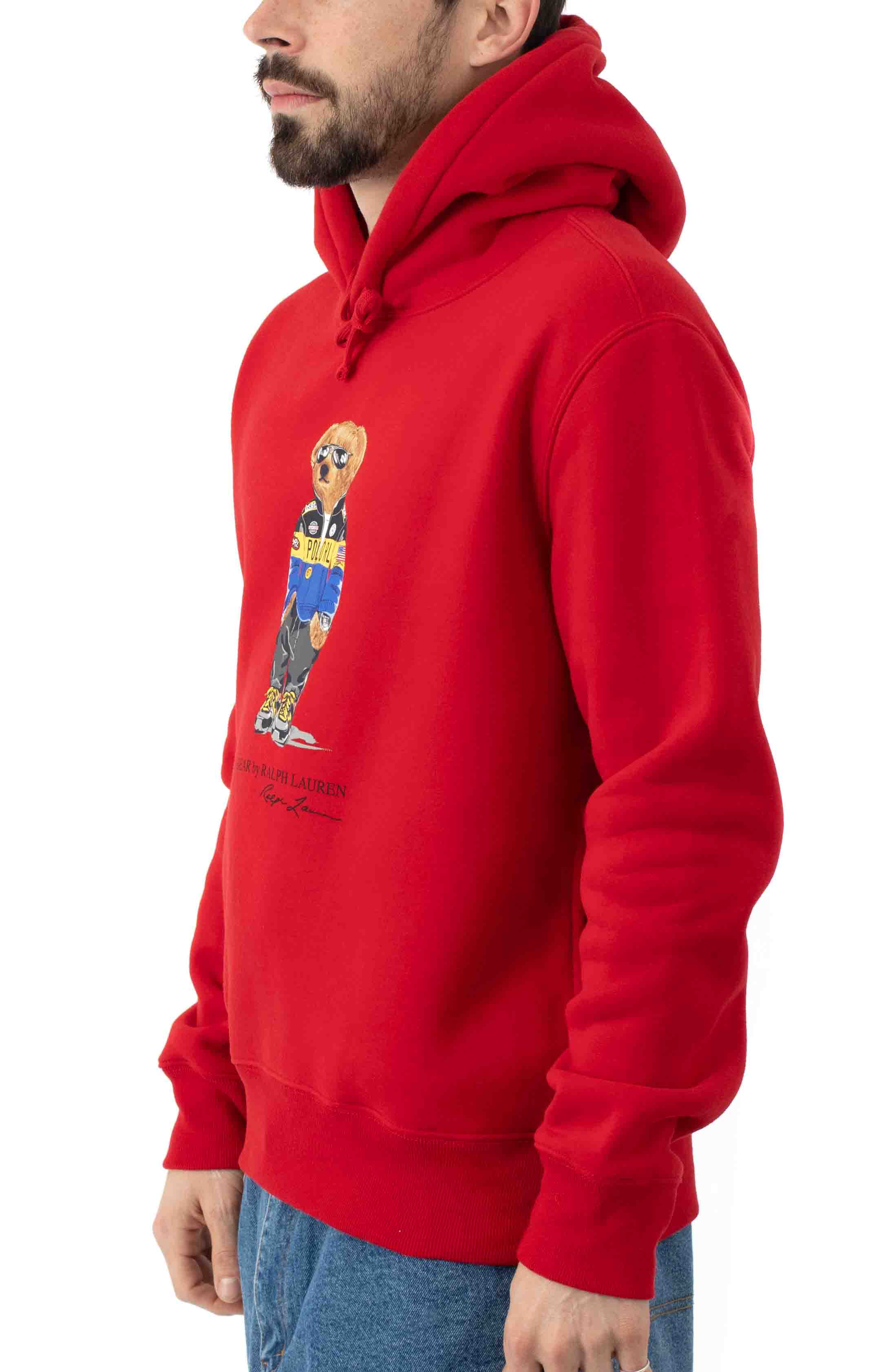 Polo Bear Racing Jacket Pullover Hoodie - Red 2