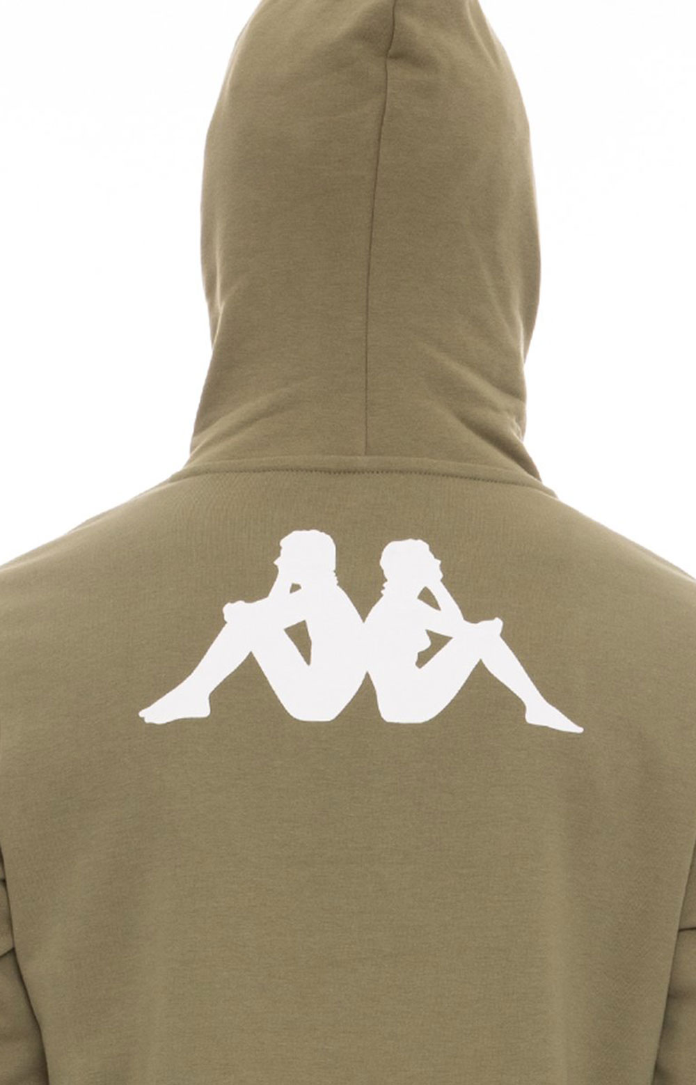 Authentic Haris Pullover Hoodie - Olive Green/Light Green/White  4