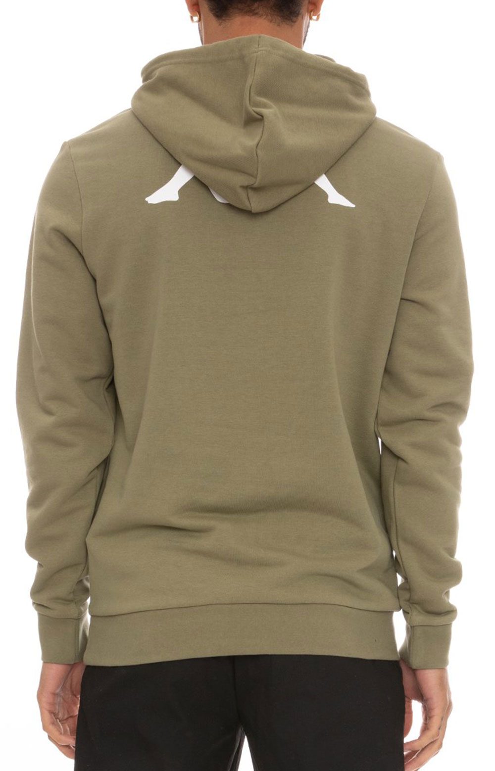 Authentic Haris Pullover Hoodie - Olive Green/Light Green/White  5