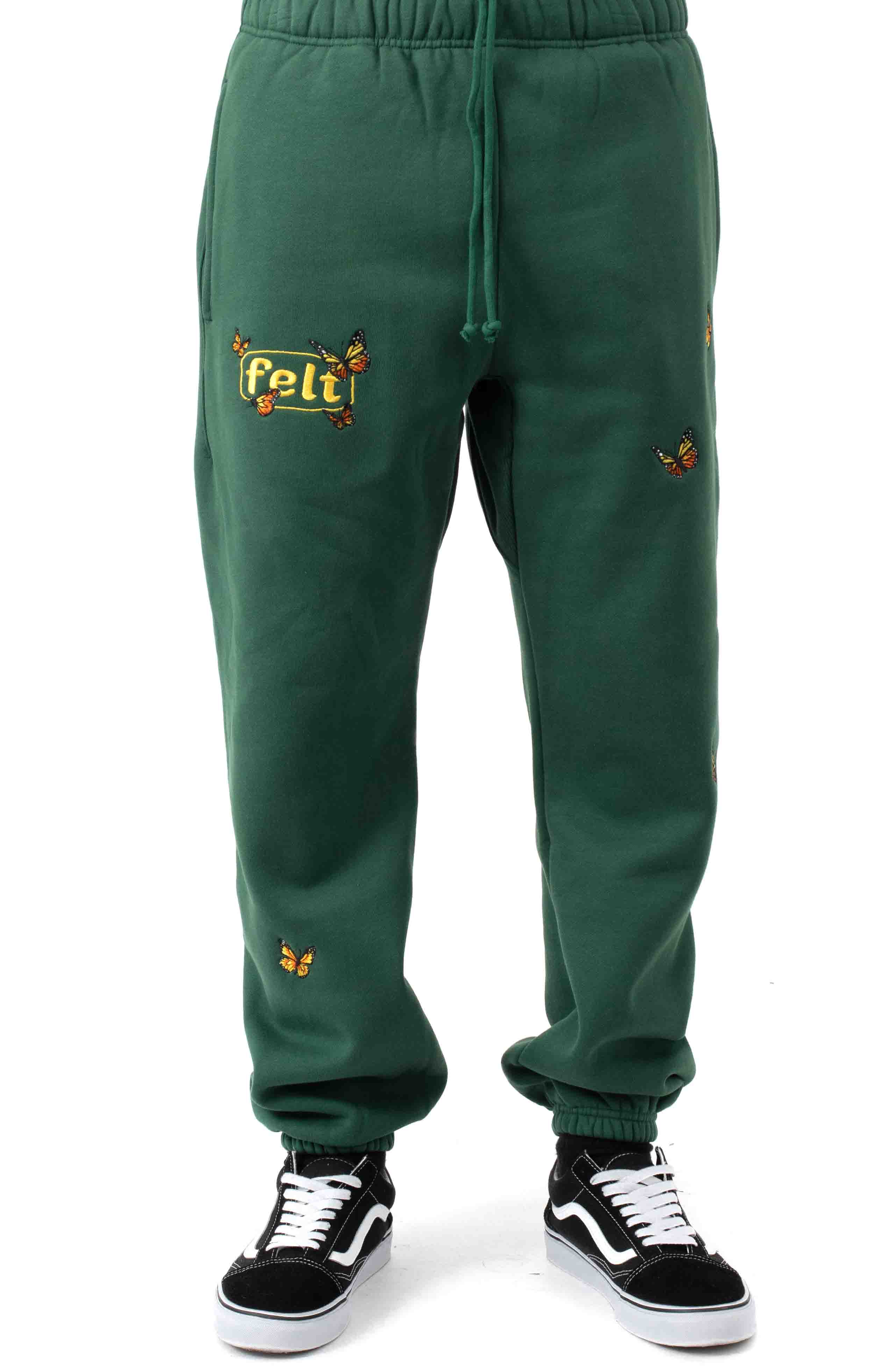 Butterfly Sweatpants - Forest 2