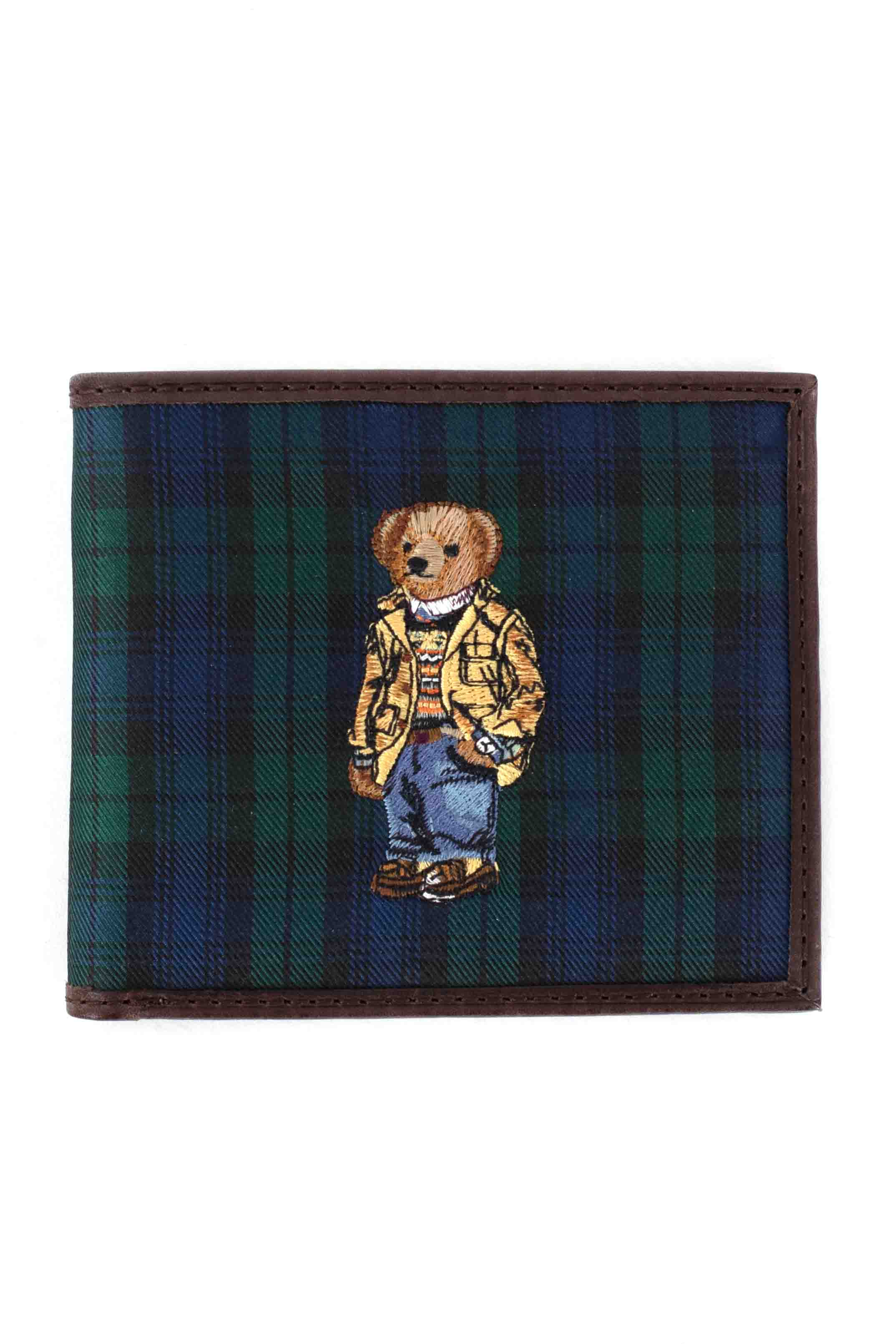 Polo Bear Coat Billfold Wallet - Navy