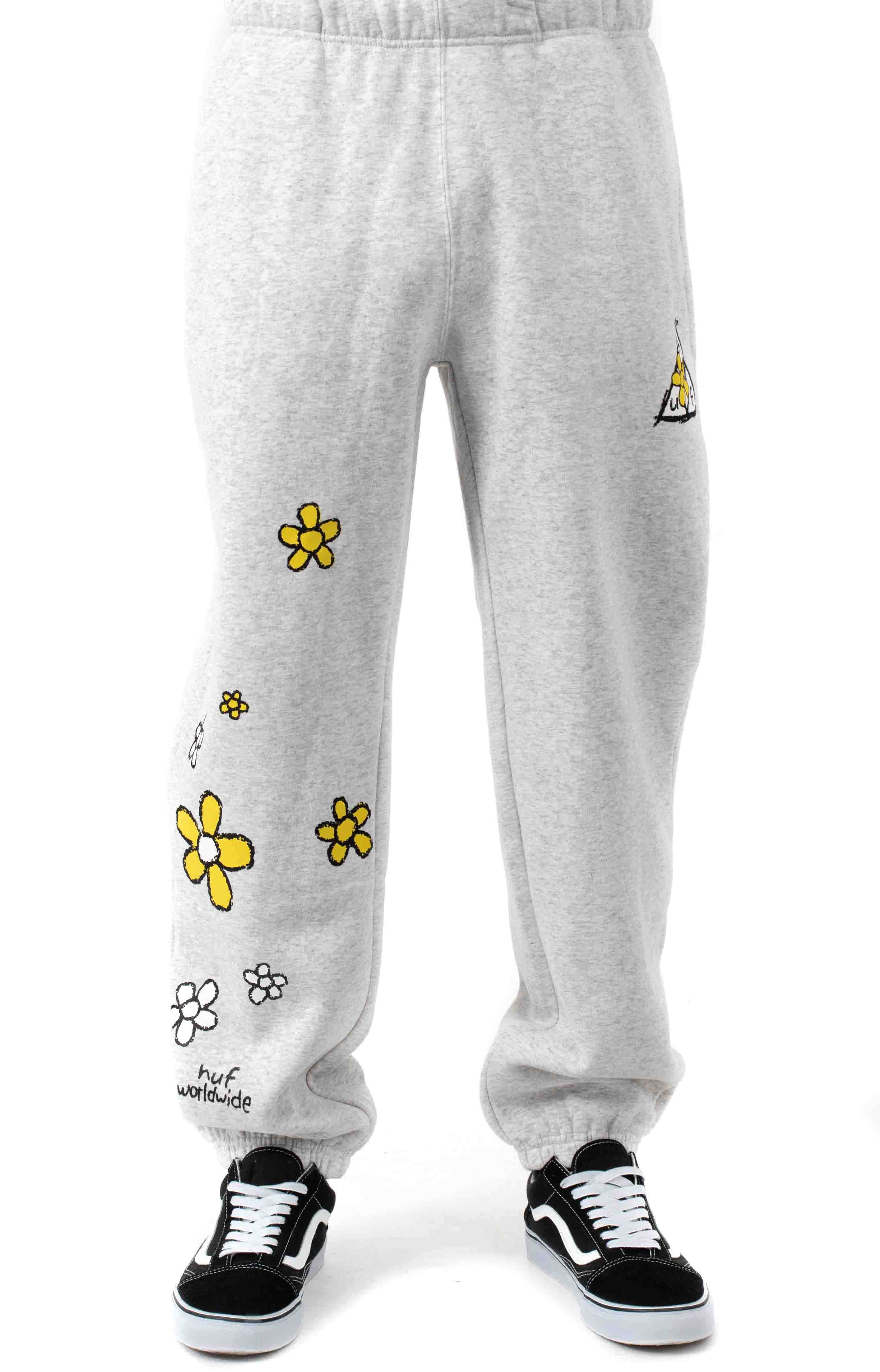 Pushing Daisies TT Fleece Pants - Heather Grey  2