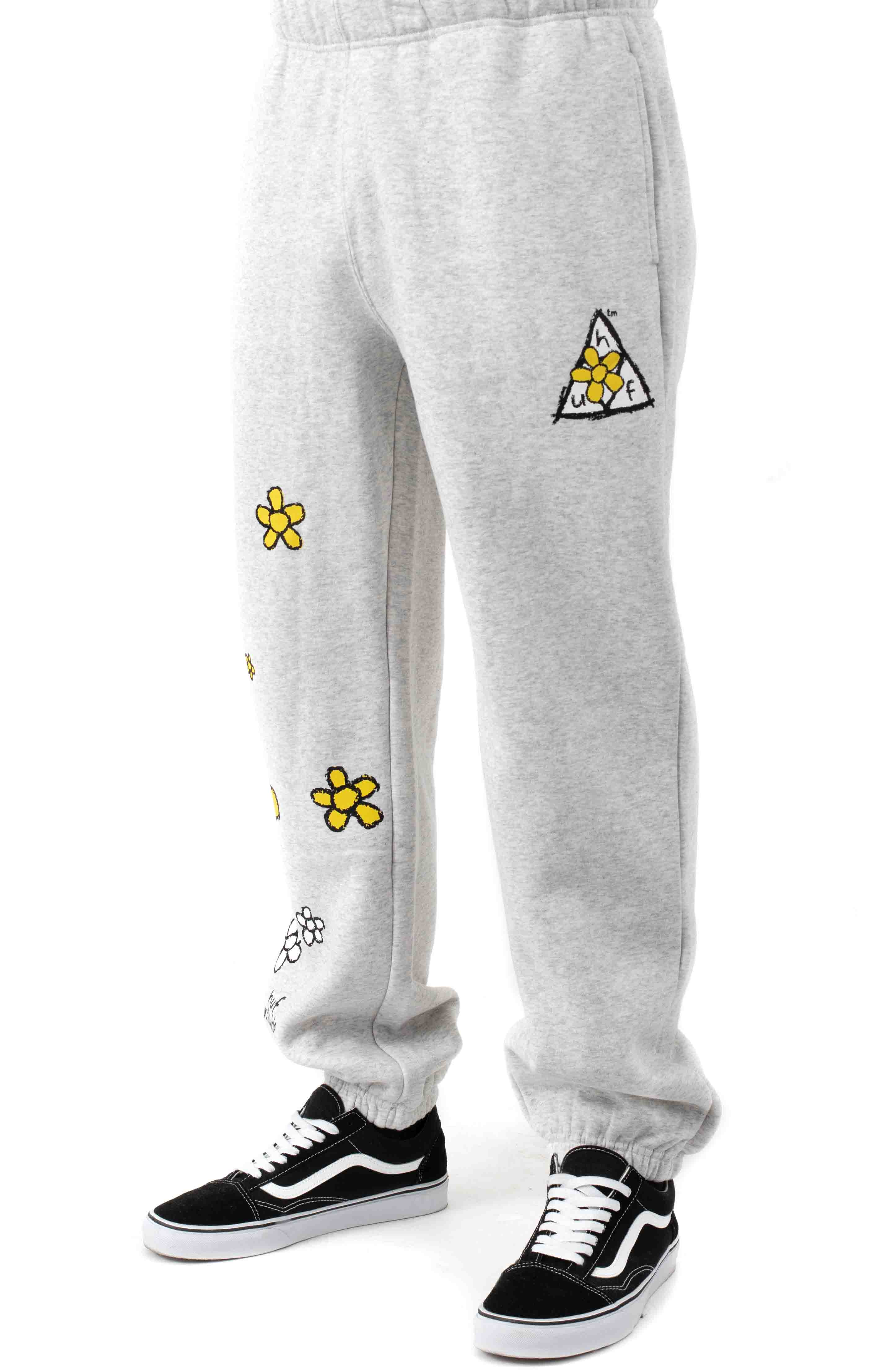 Pushing Daisies TT Fleece Pants - Heather Grey