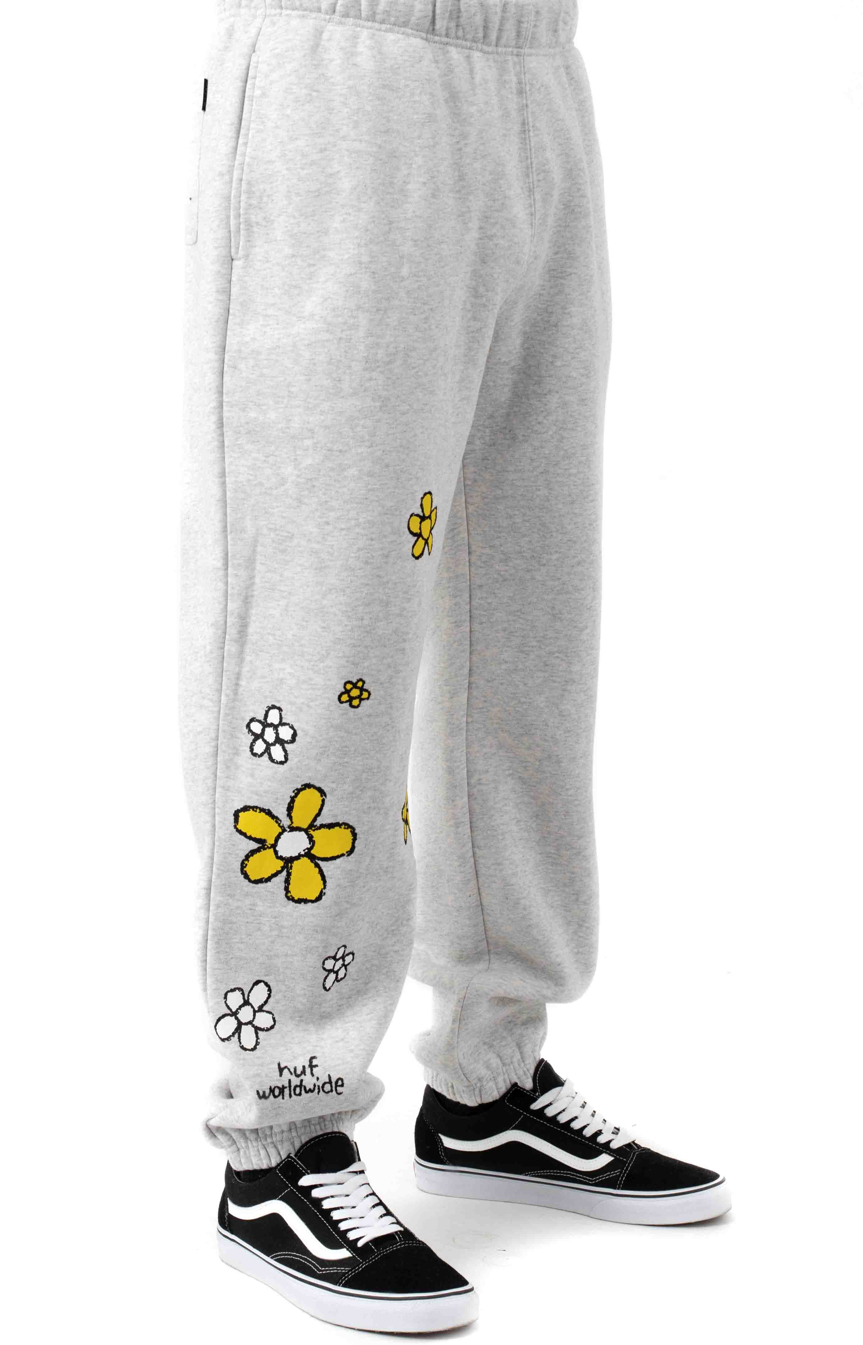 Pushing Daisies TT Fleece Pants - Heather Grey  4