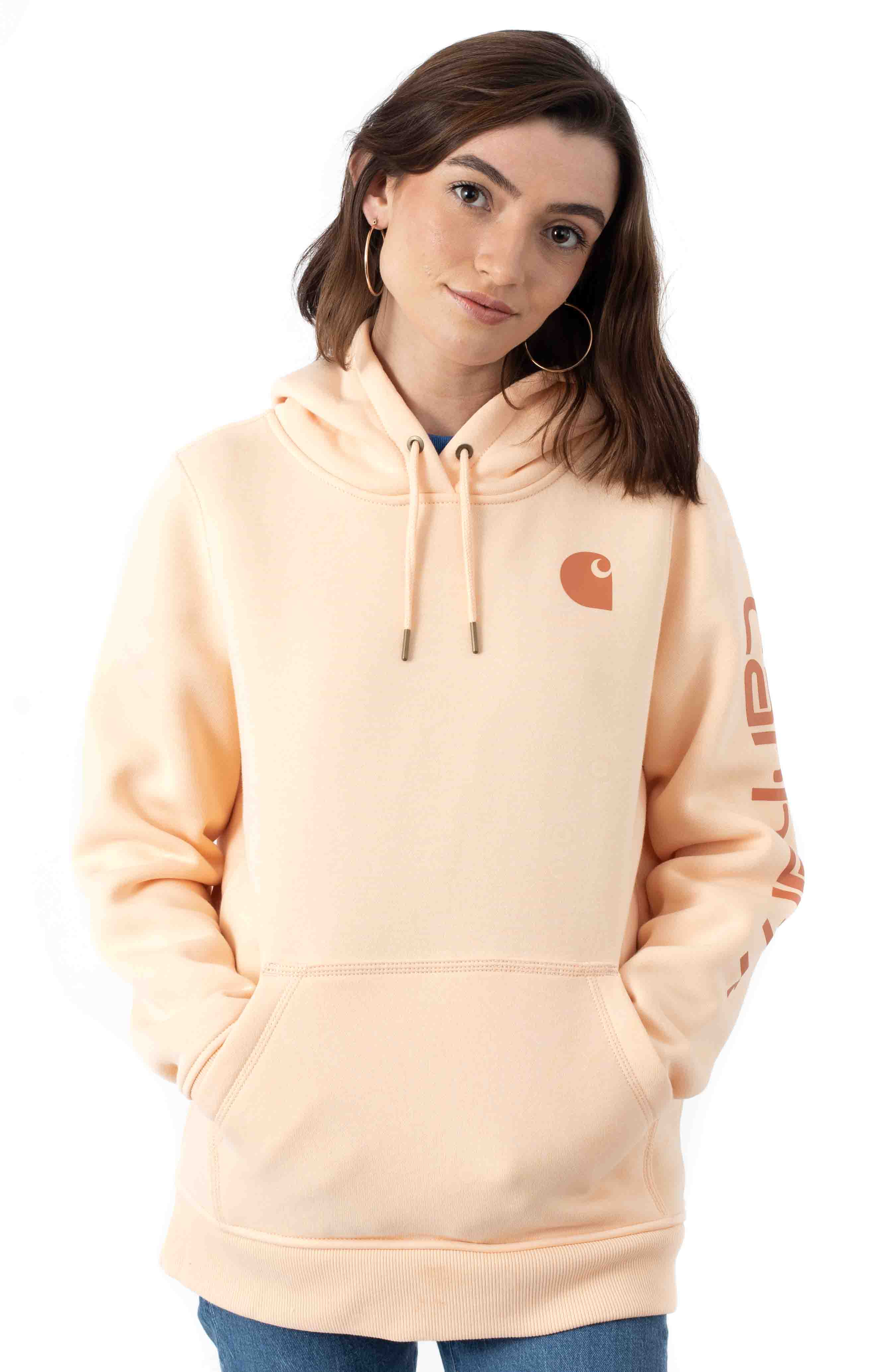 (102791) Clarksburg Graphic Sleeve Hoodie - Cantaloupe
