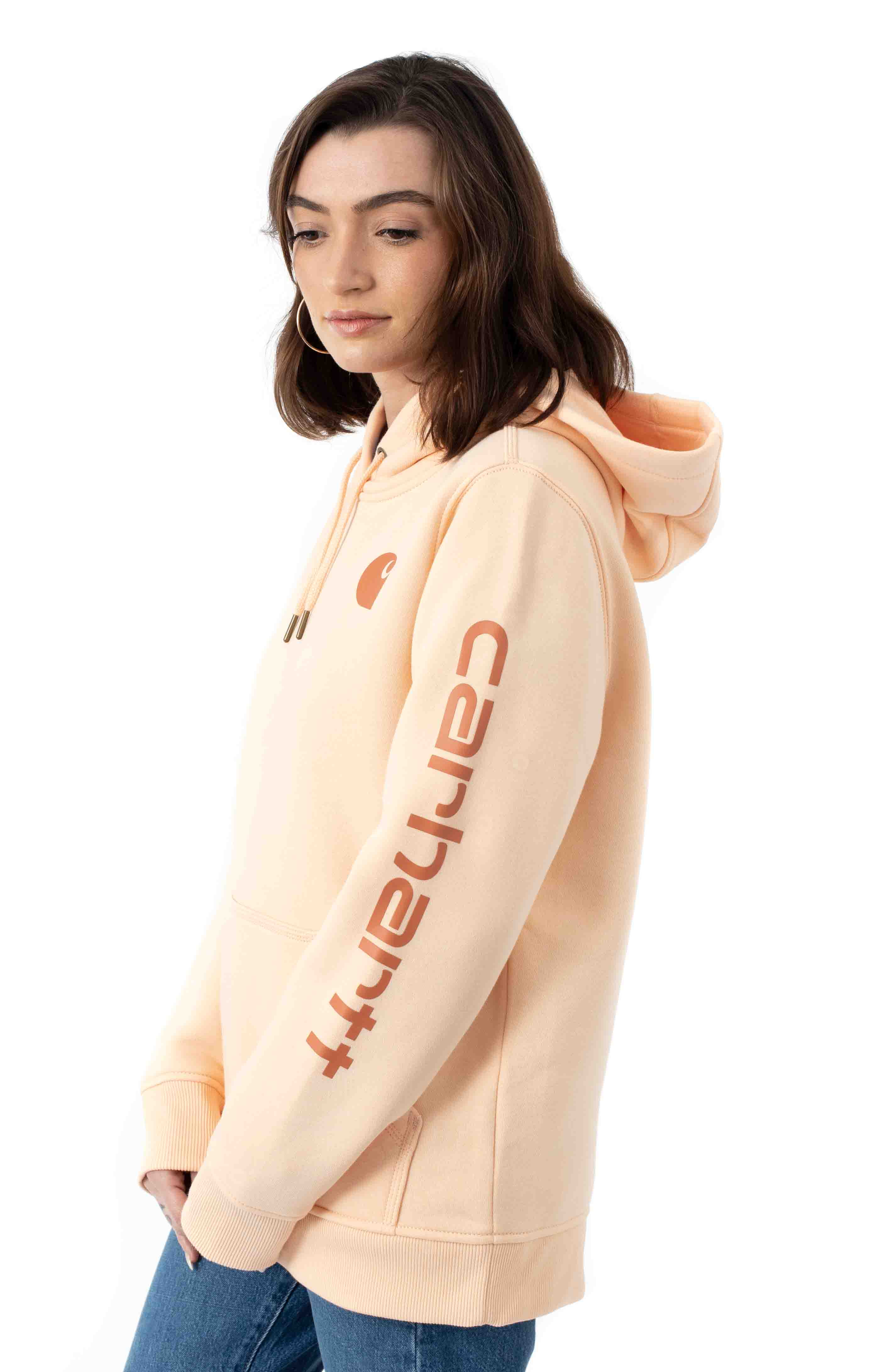 (102791) Clarksburg Graphic Sleeve Hoodie - Cantaloupe 2
