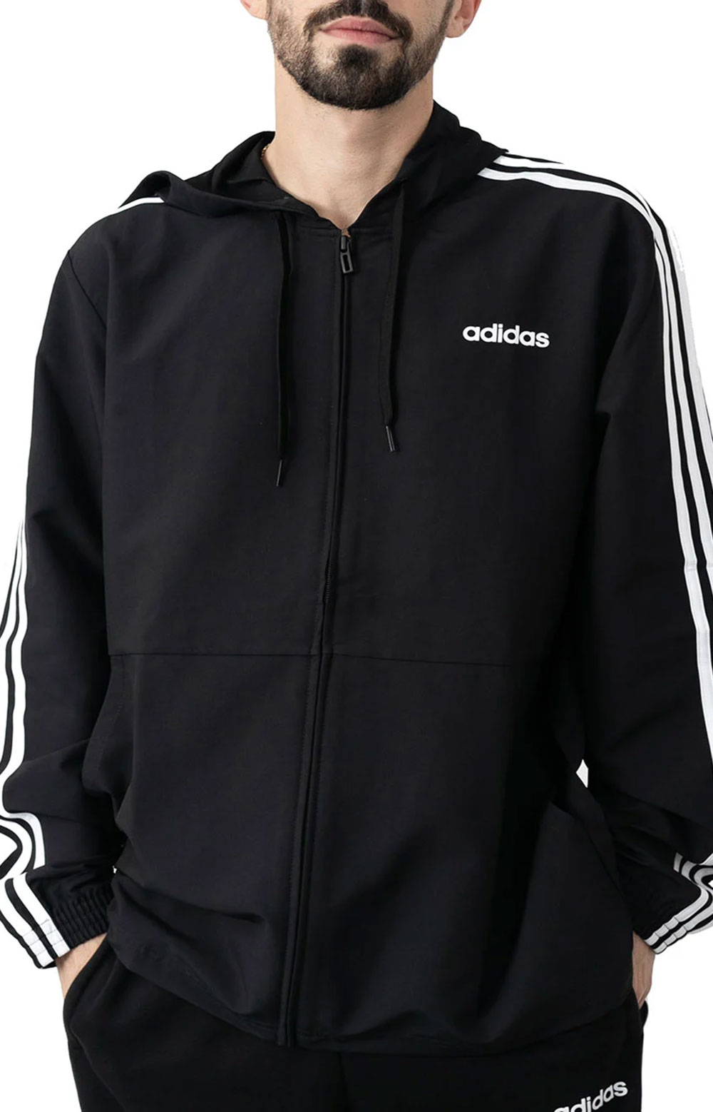 Essentials 3 Stripes Woven Windbreaker