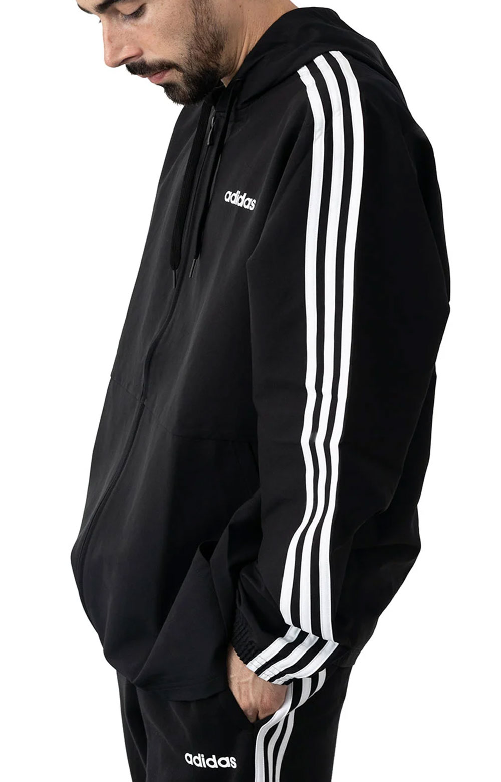 Essentials 3 Stripes Woven Windbreaker  2