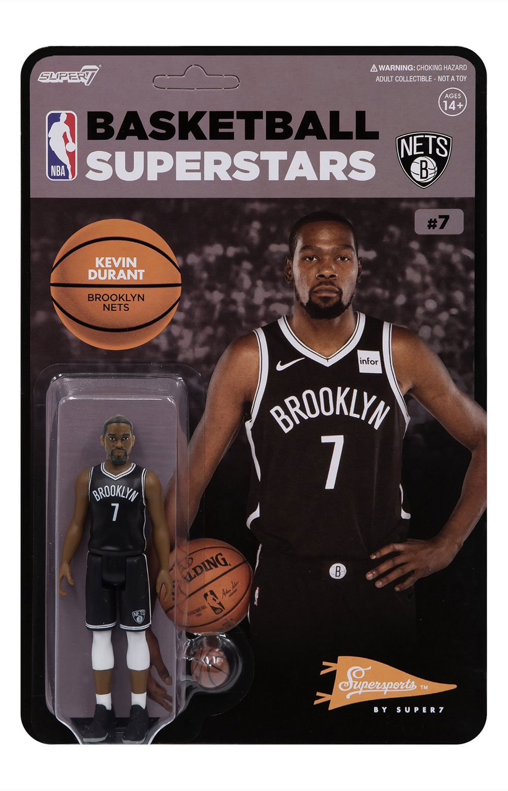 NBA Supersports Figure - Kevin Durant (Nets) 2