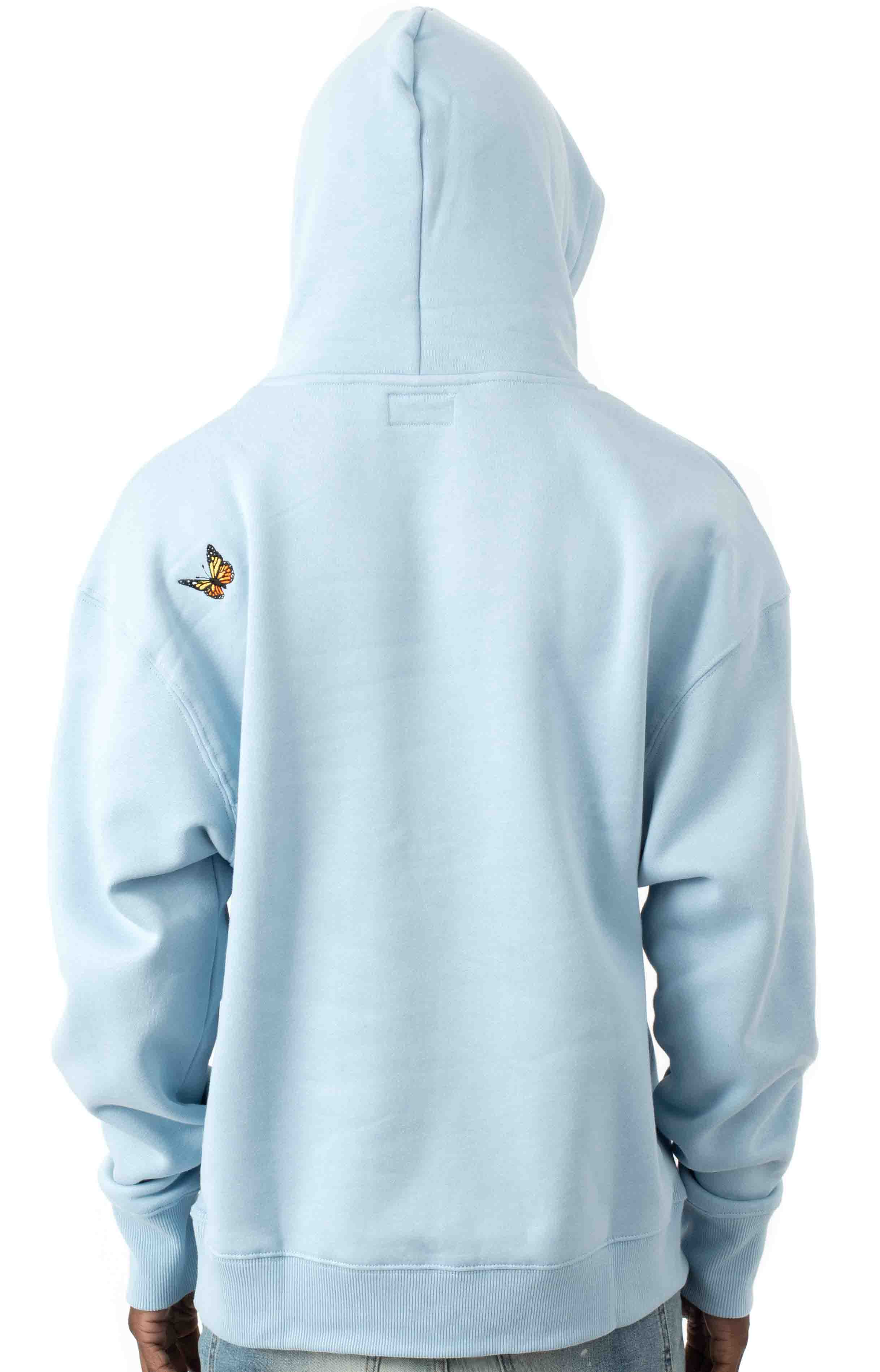 Butterfly Pullover Hoodie - Baby Blue  3