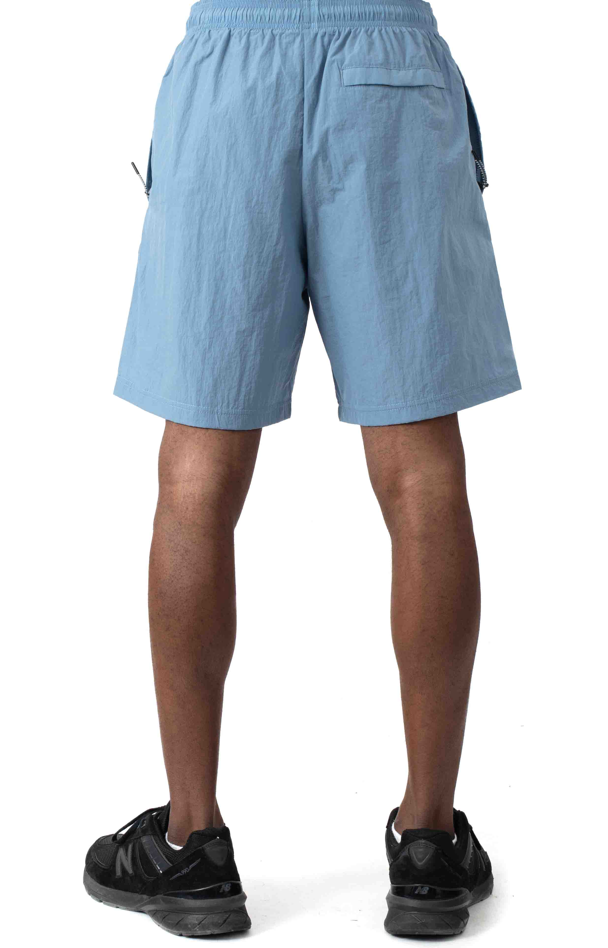 6-Inch Nylon Warm Up Shorts - Wildflower Pale Blue  3