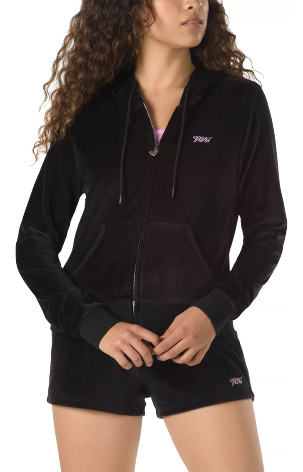 Together Forever Velour Zip-Up Hoodie