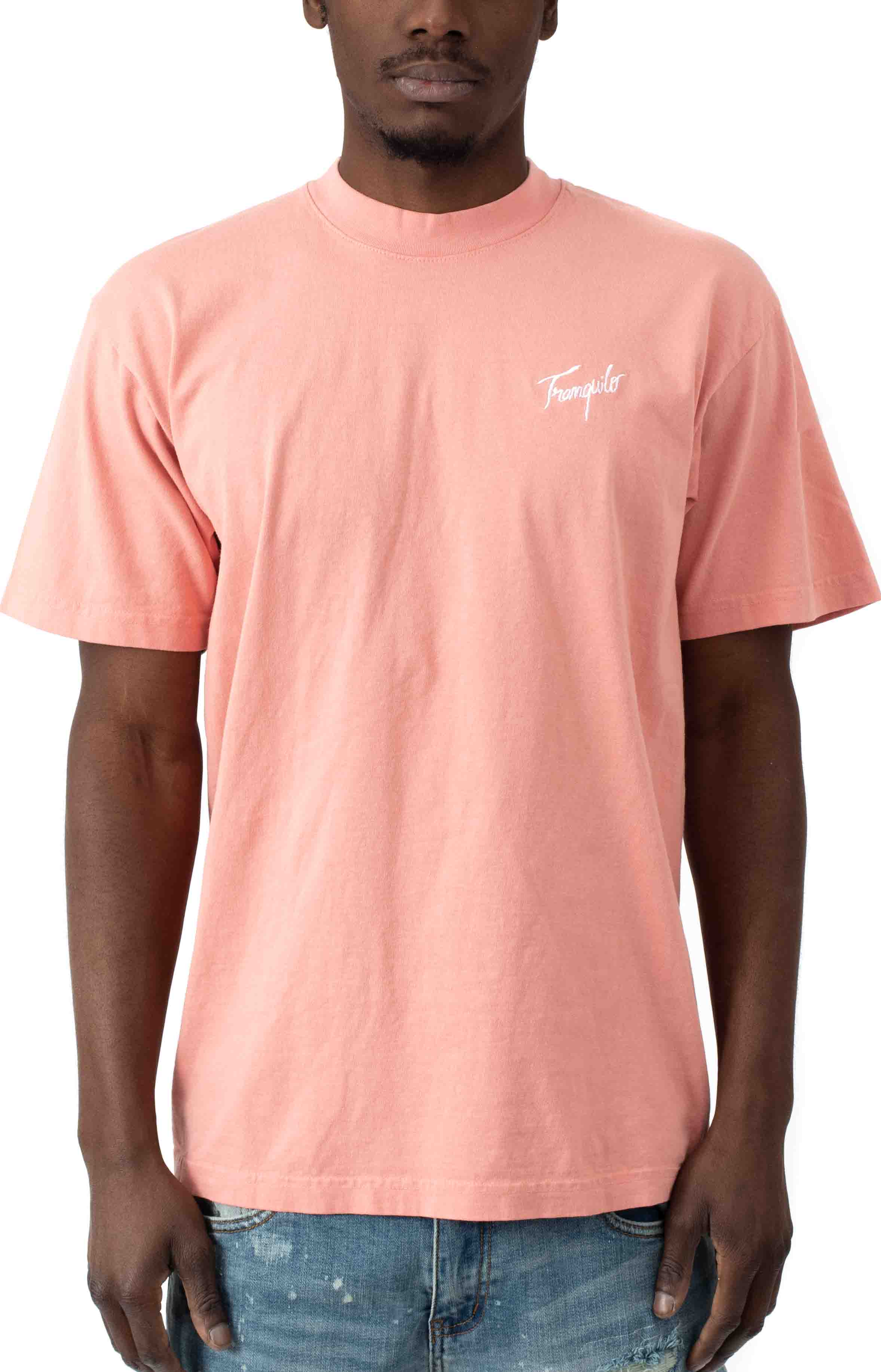 Tranquilo Embroidered T-Shirt - Peach