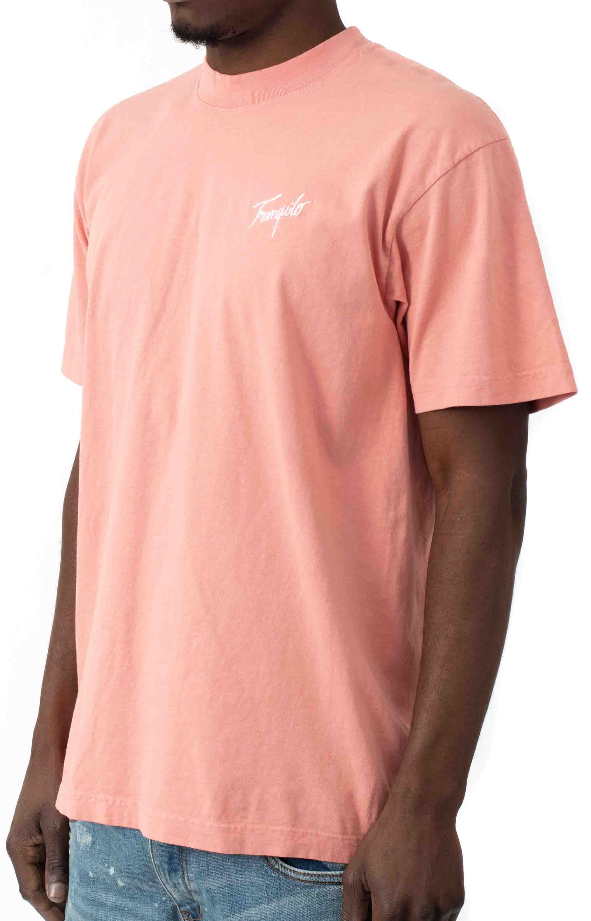 Tranquilo Embroidered T-Shirt - Peach 2