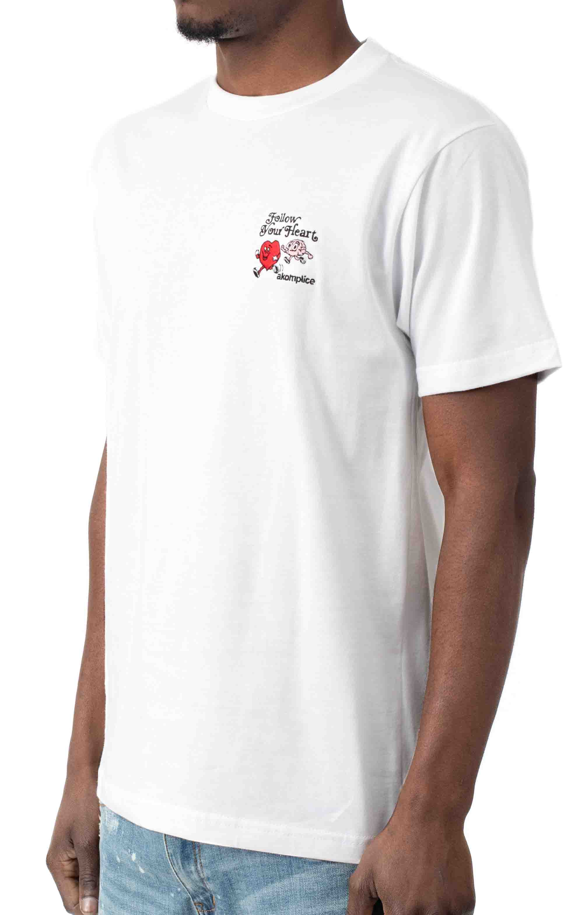 Follow Your Heart Embroidered T-Shirt - White  2