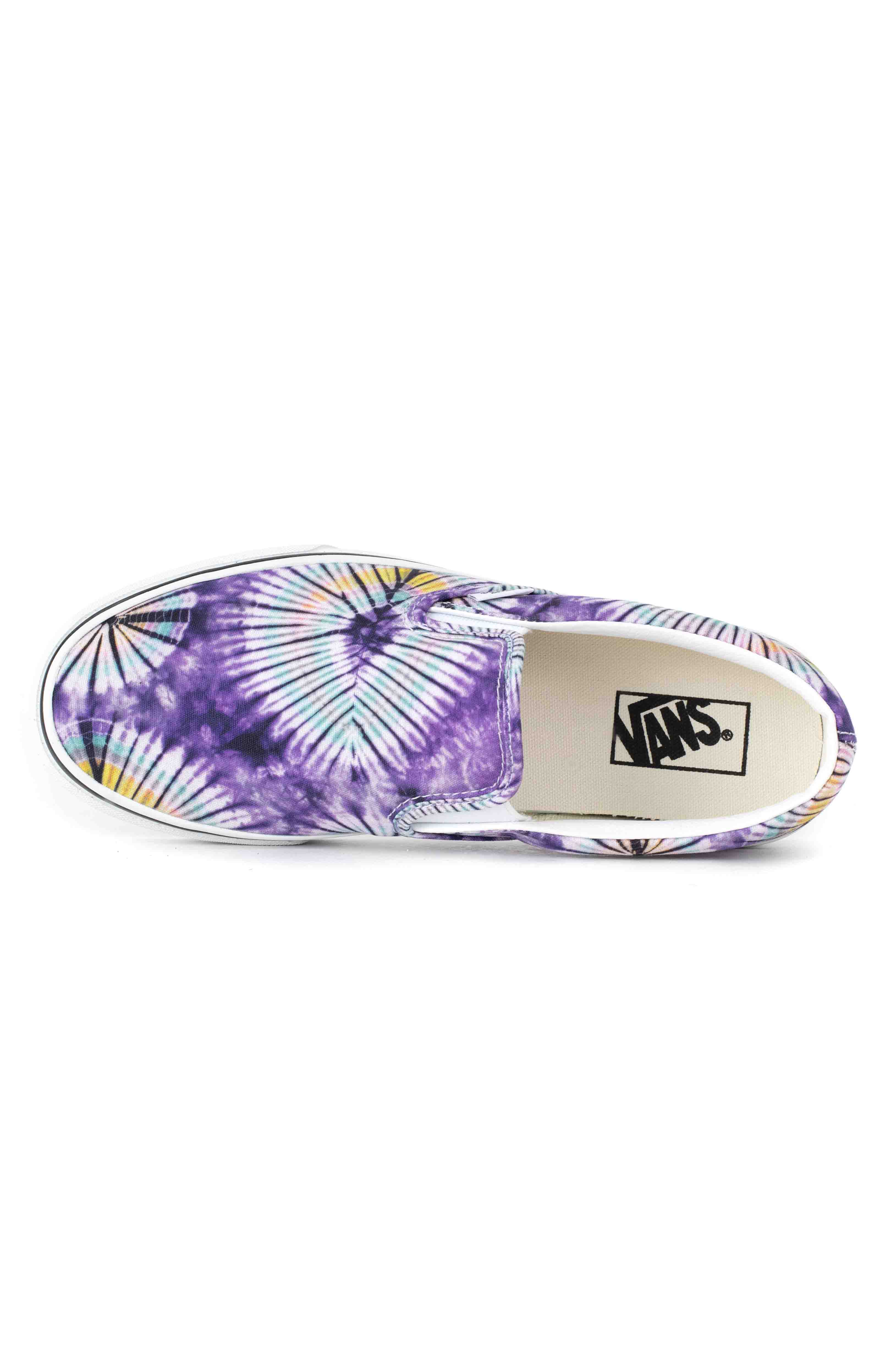 (AO86G6) New Age Classic Slip-On Shoes - Purple Tie-Dye  2
