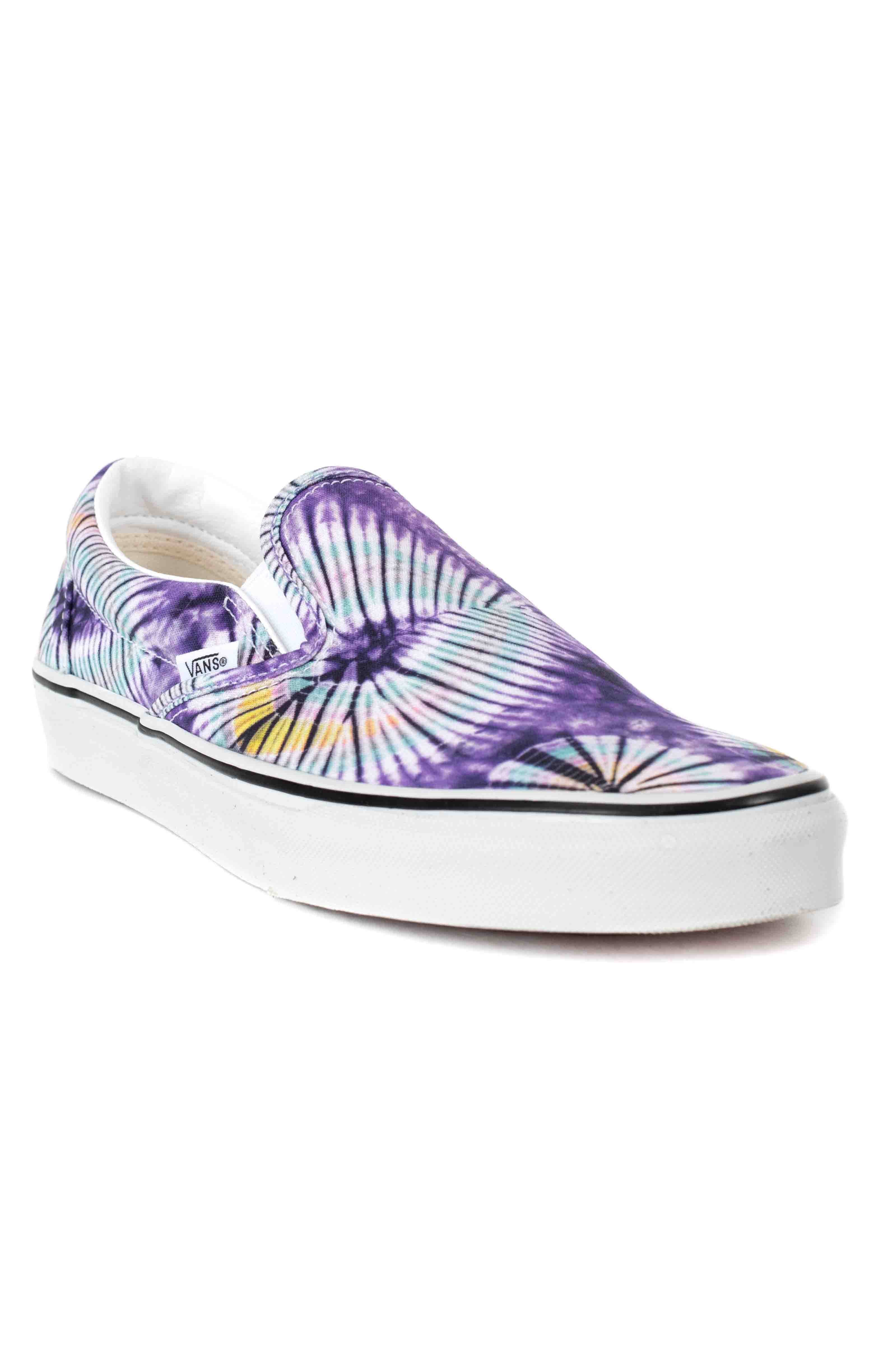 (AO86G6) New Age Classic Slip-On Shoes - Purple Tie-Dye  3