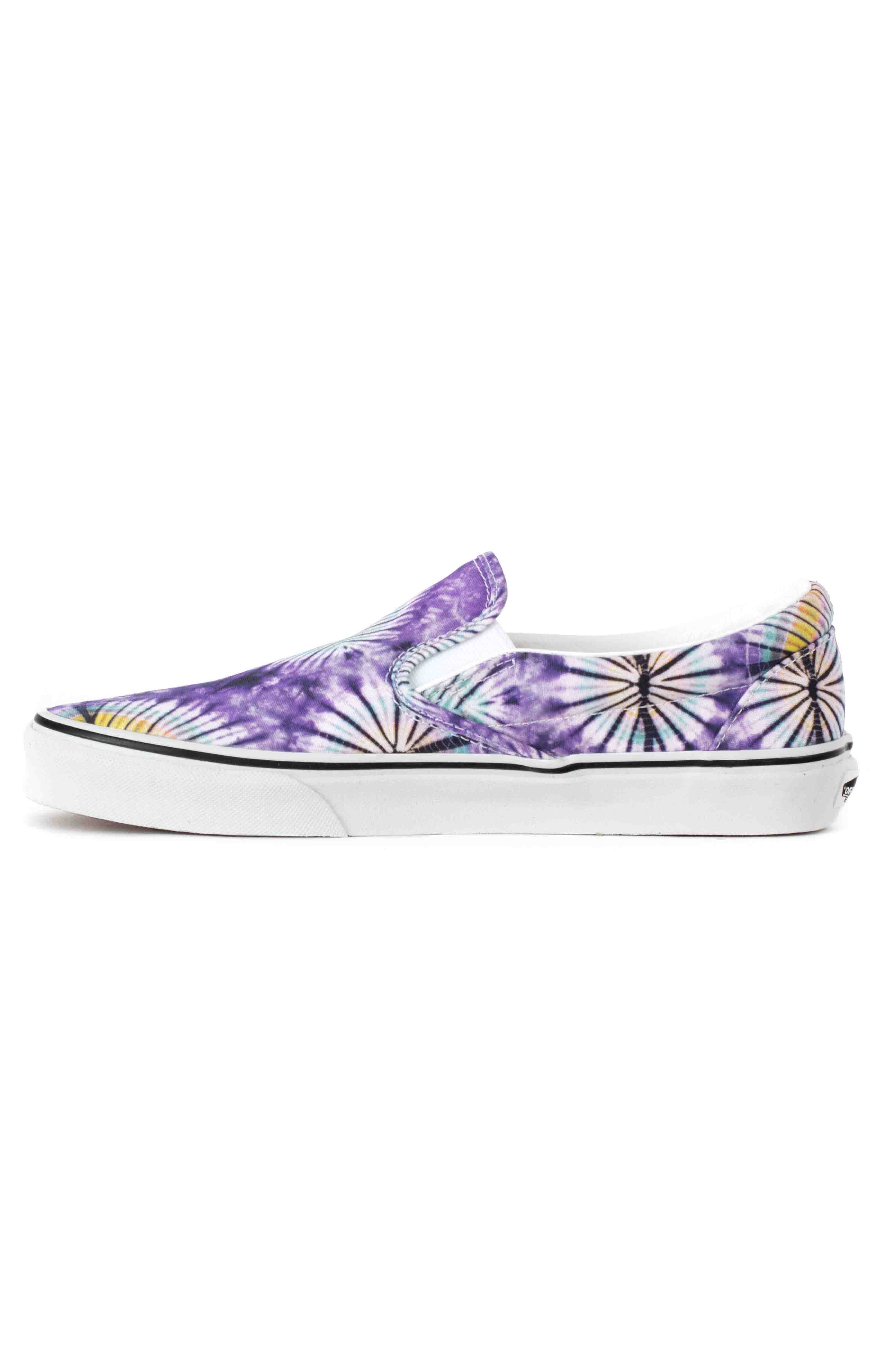 (AO86G6) New Age Classic Slip-On Shoes - Purple Tie-Dye  4