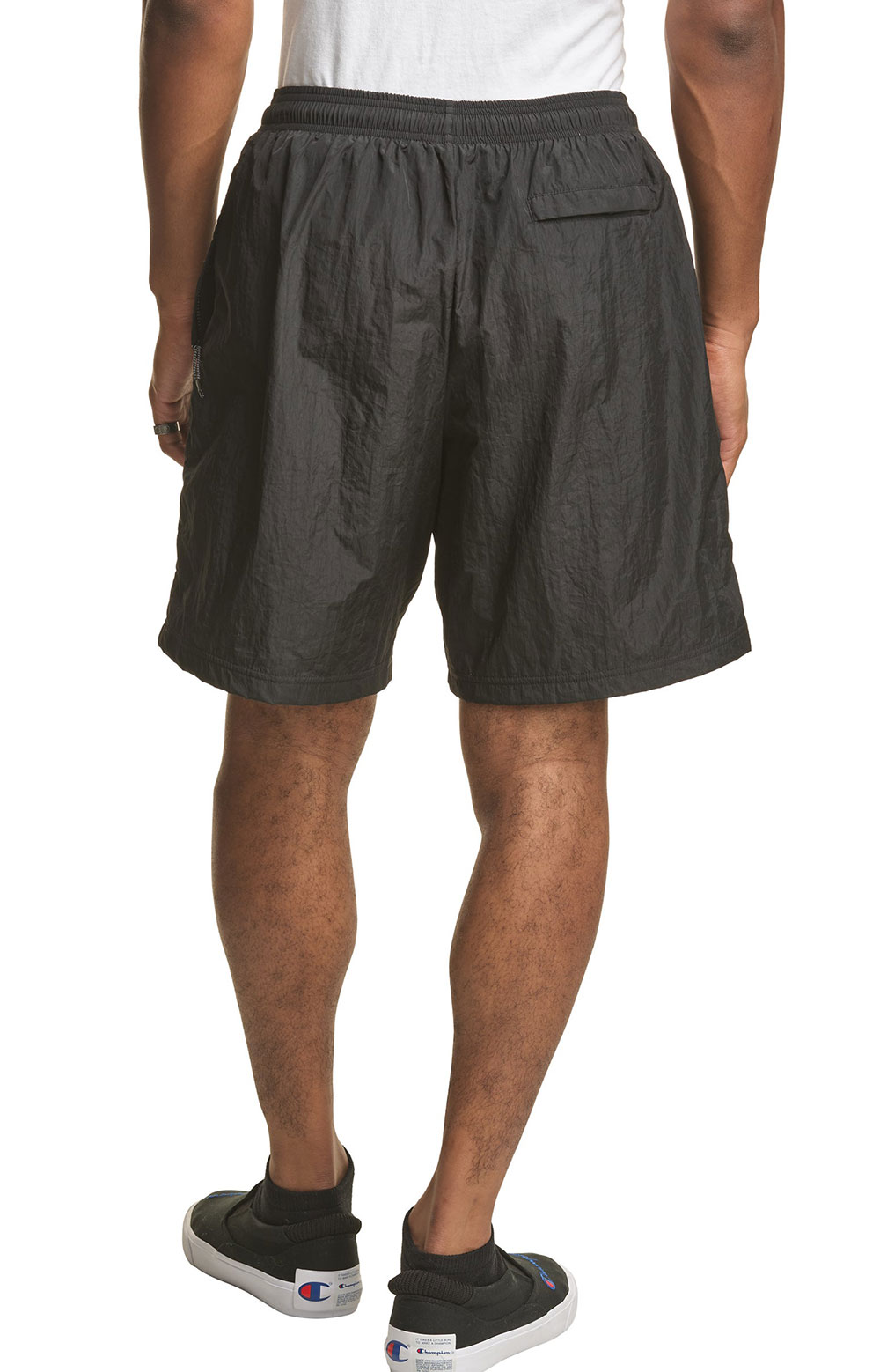 6-Inch Nylon Warm Up Shorts - Black 2