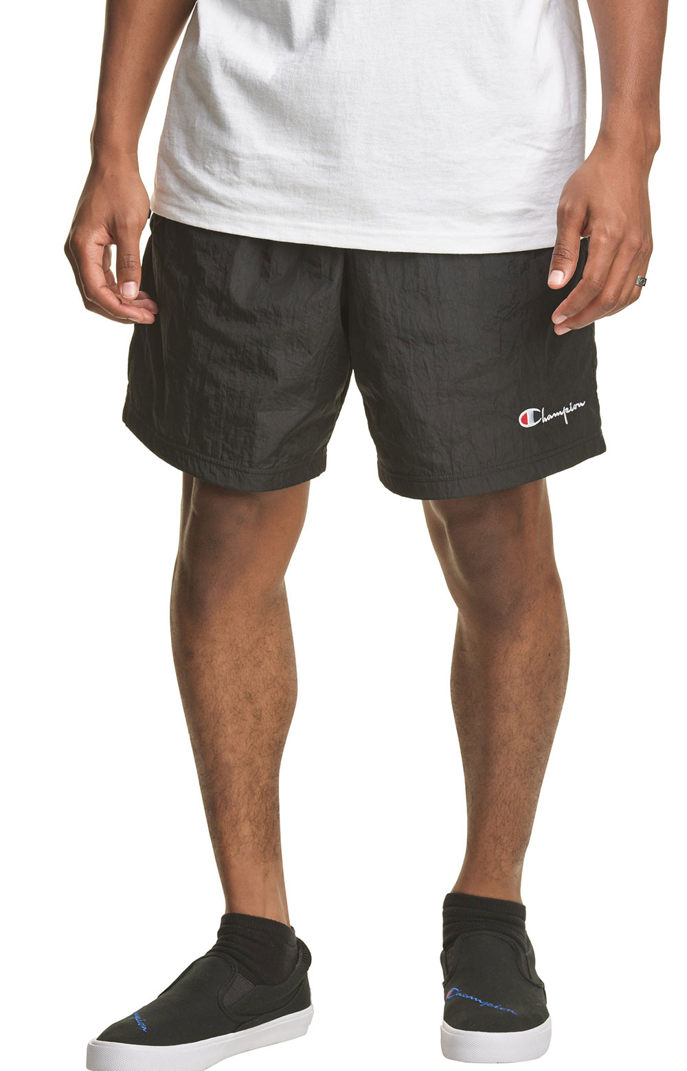 6-Inch Nylon Warm Up Shorts - Black 3